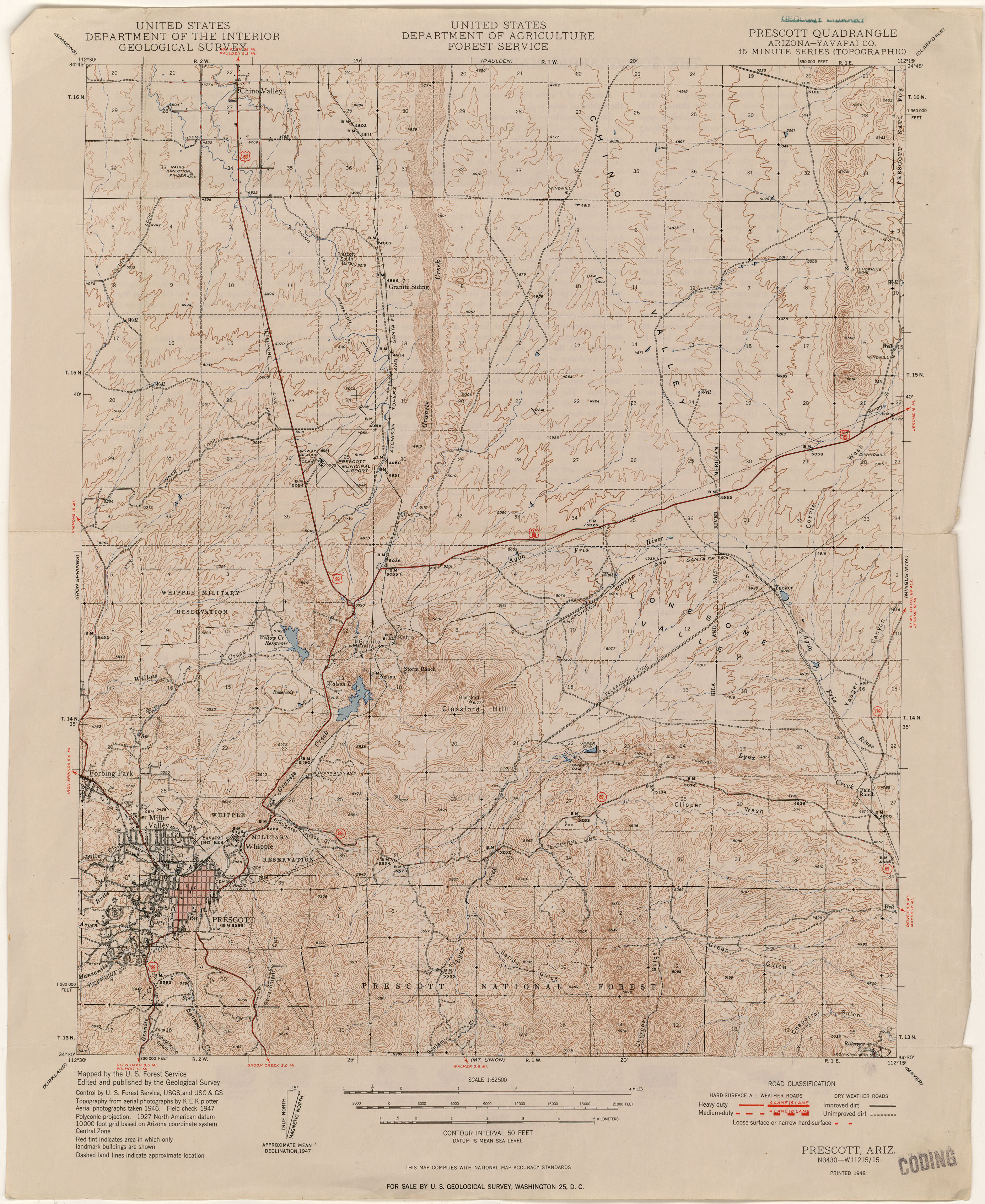 Map Of Arizona Prescott.Arizona Historical Topographic Maps Perry Castaneda Map Collection