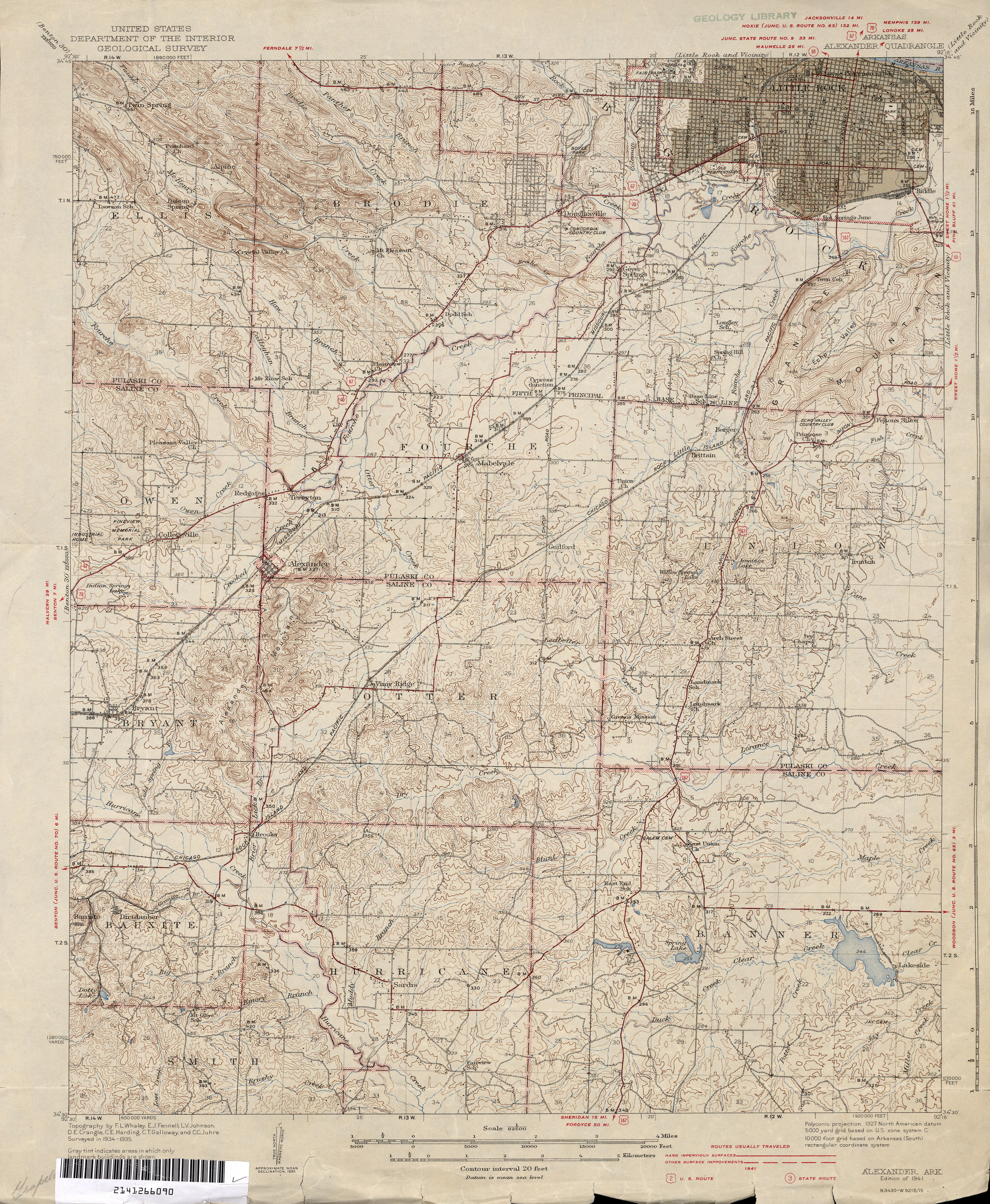 Arkansas Historical Topographic Maps PerryCastañeda Map - Little rock on us map