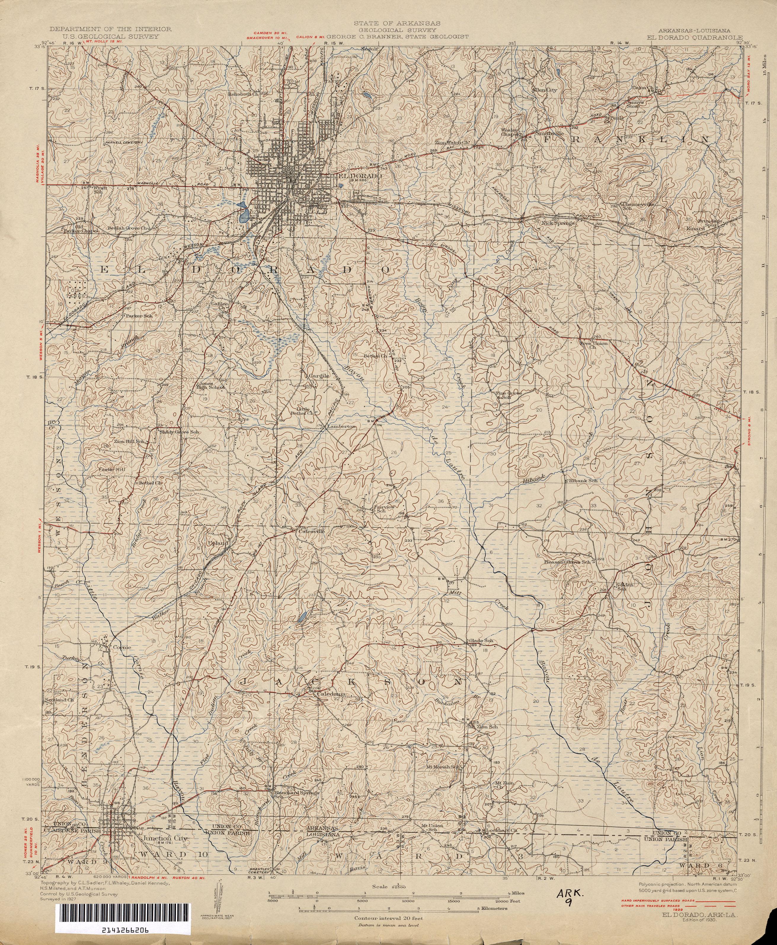 Arkansas Historical Topographic Maps PerryCastañeda Map - State map of arkansas
