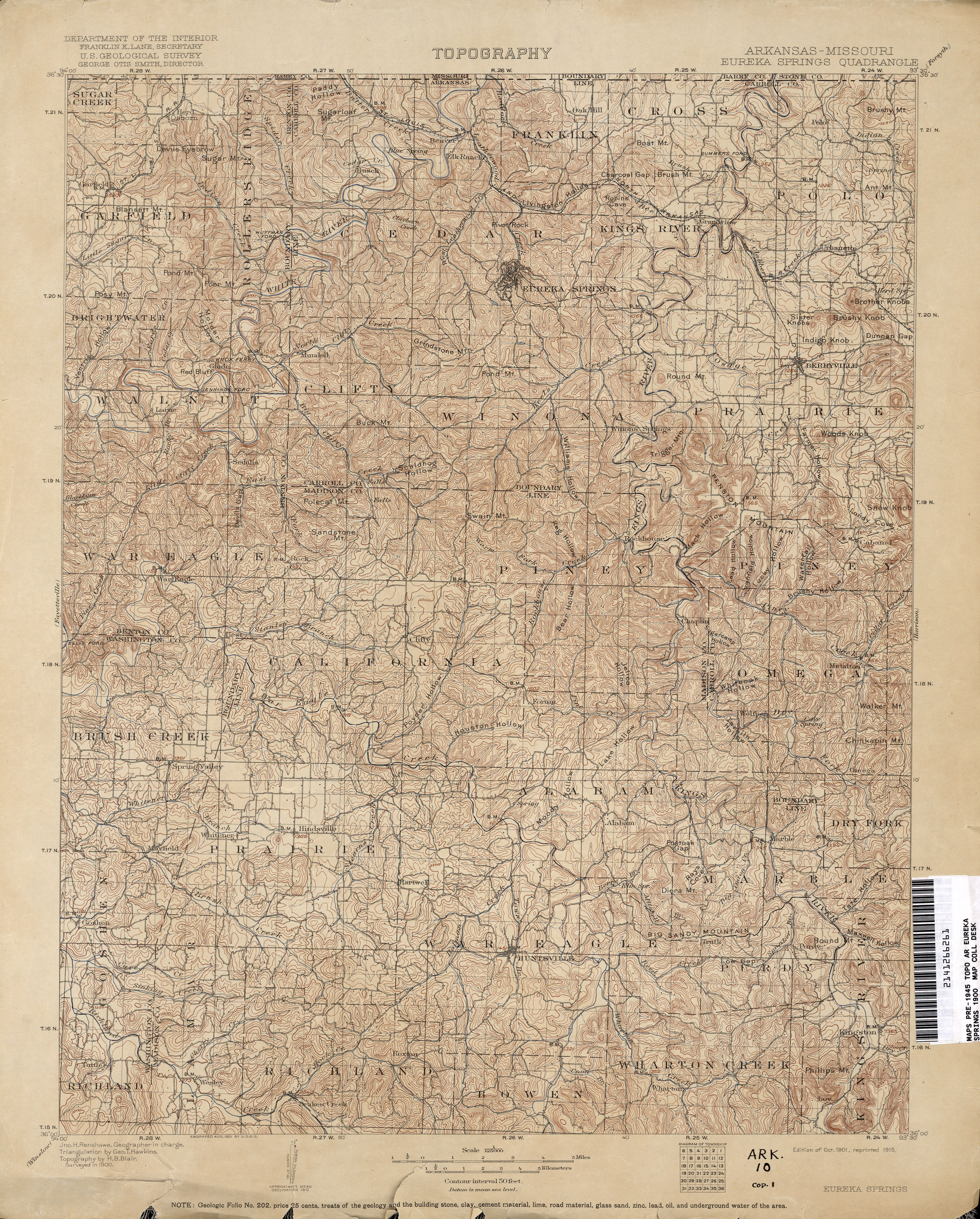 Arkansas Historical Topographic Maps - Perry-Castañeda Map ...