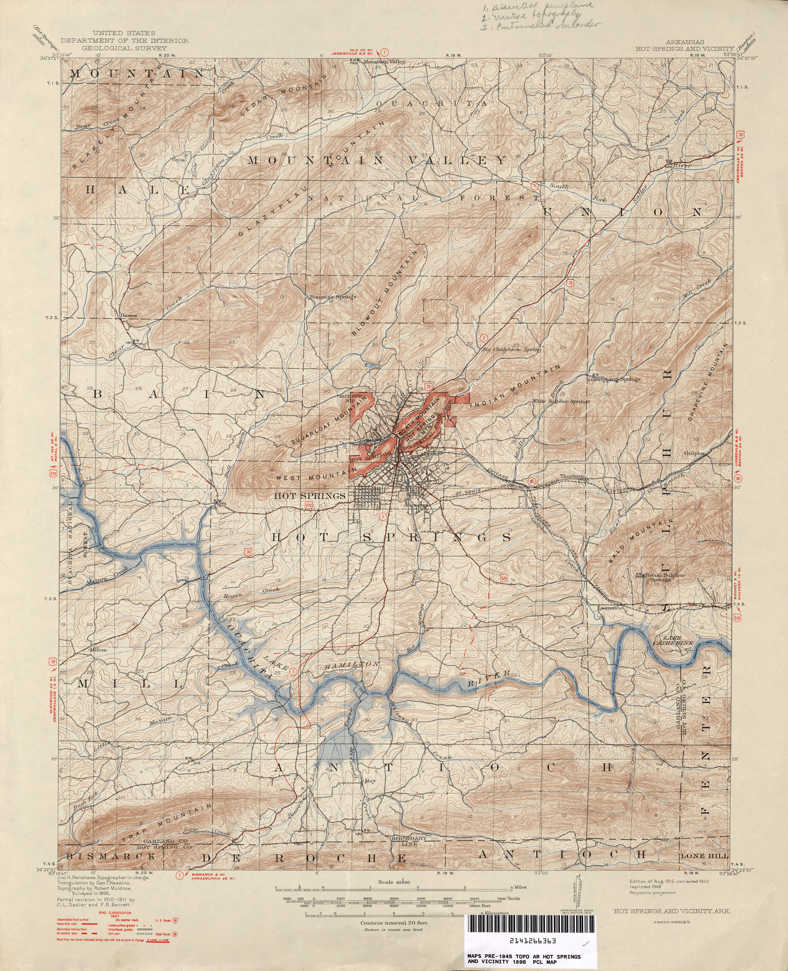 Arkansas Historical Topographic Maps PerryCastañeda Map - 1896 map of us