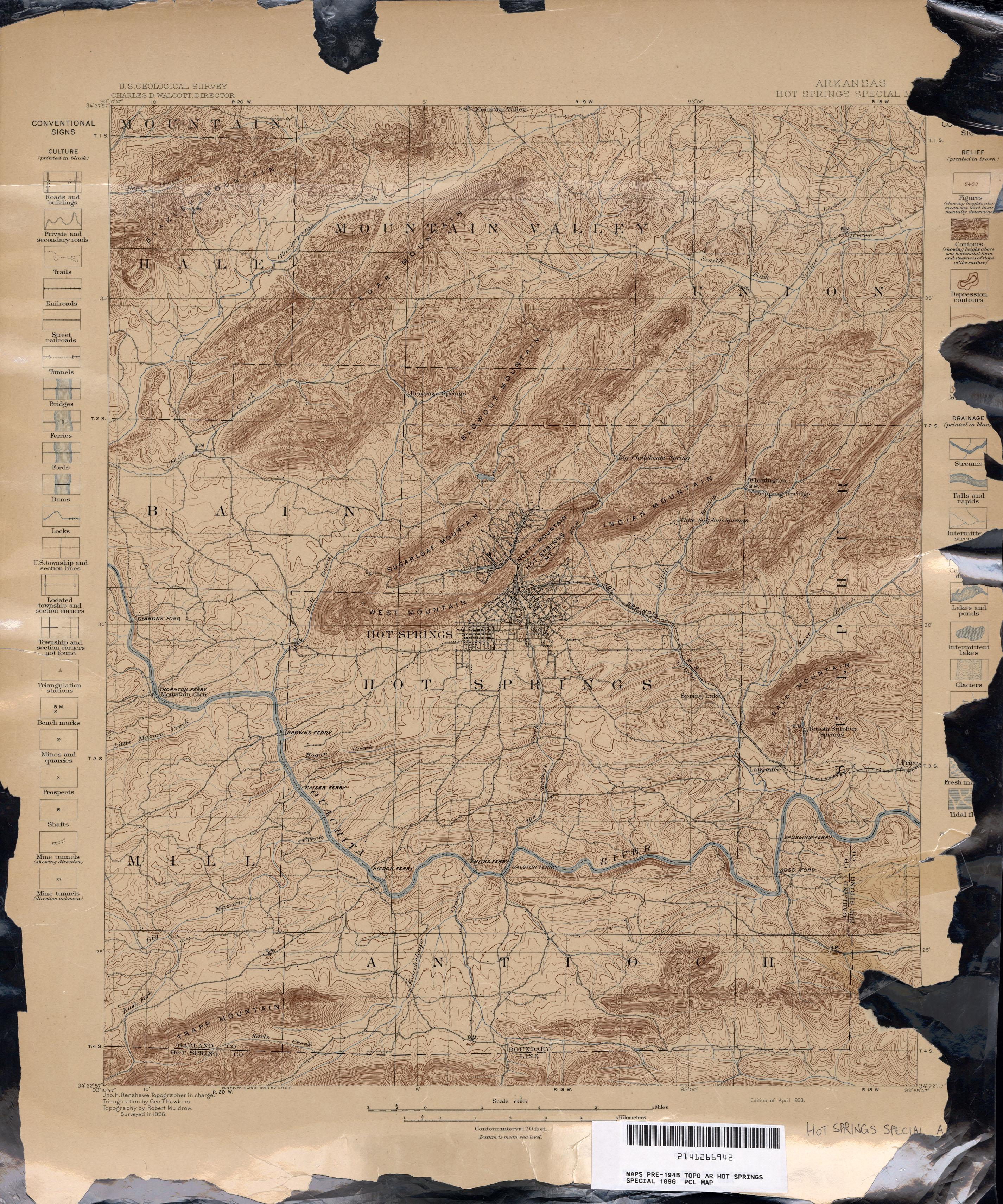 Arkansas Historical Topographic Maps PerryCastañeda Map - Ar map