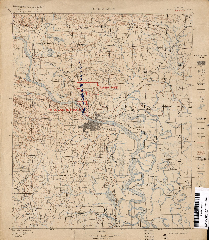 Arkansas Historical Topographic Maps PerryCastañeda Map - Little rock arkansas on us map