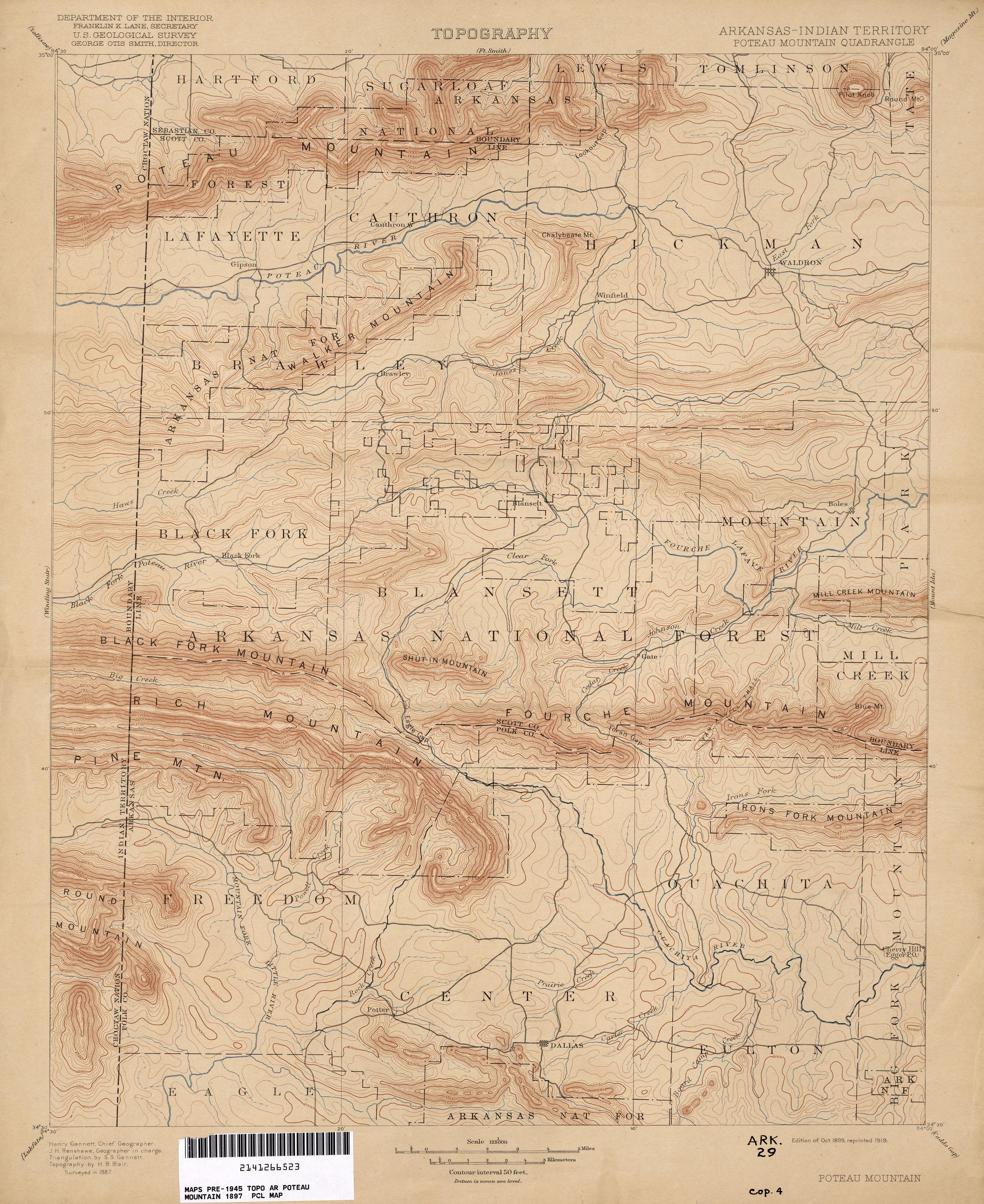 Free Arkansas Topographic Map.Arkansas Historical Topographic Maps Perry Castaneda Map