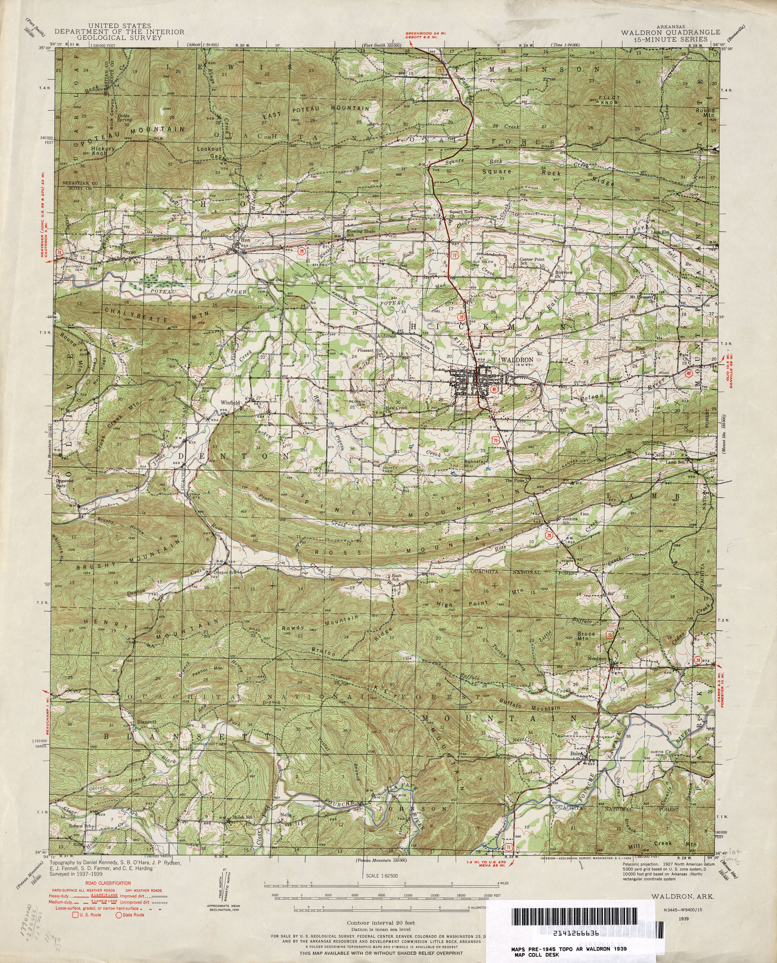 Arkansas Historical Topographic Maps PerryCastañeda Map - Topographic map of eastern us