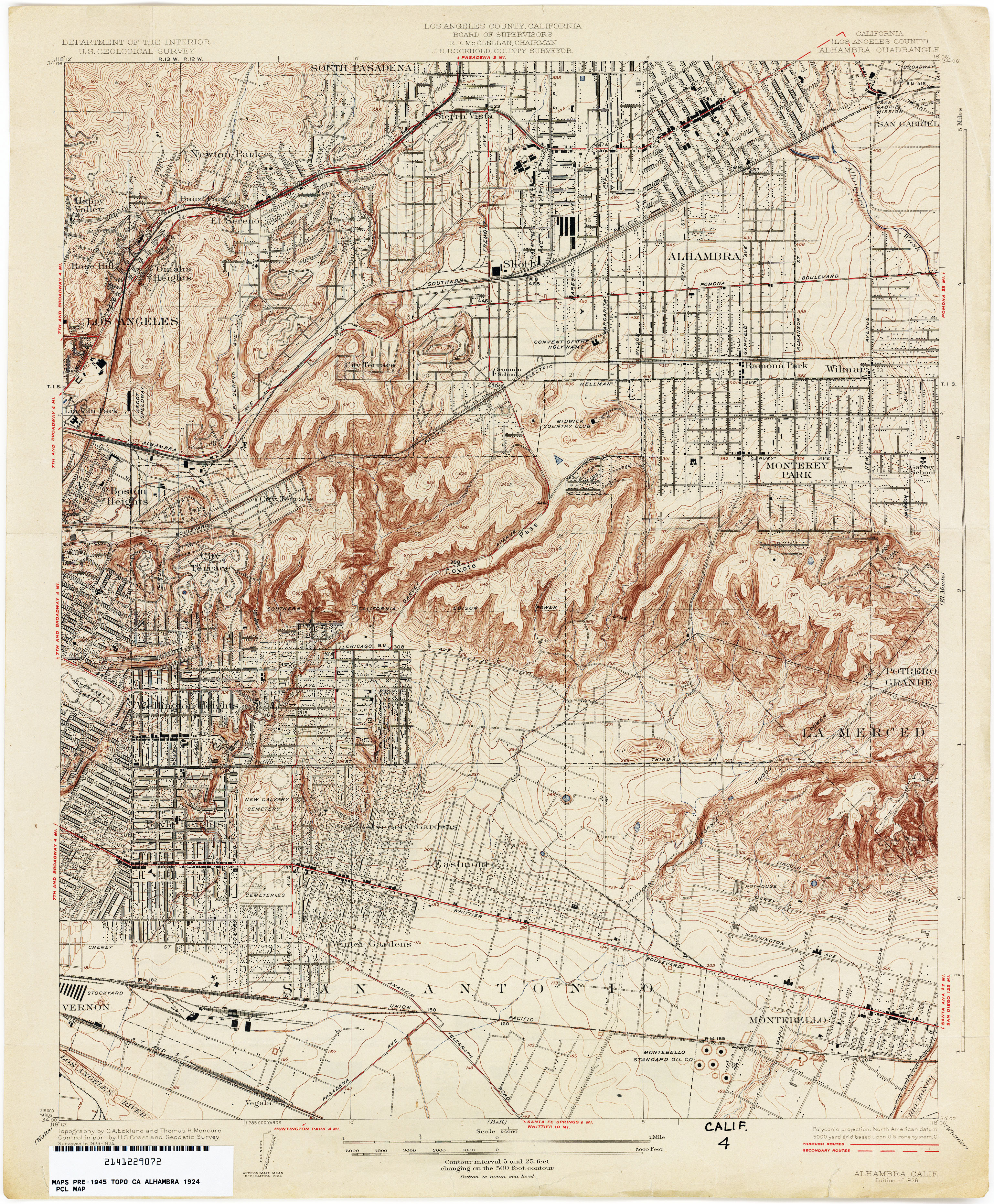 California Map Topography.California Topographic Maps Perry Castaneda Map Collection Ut