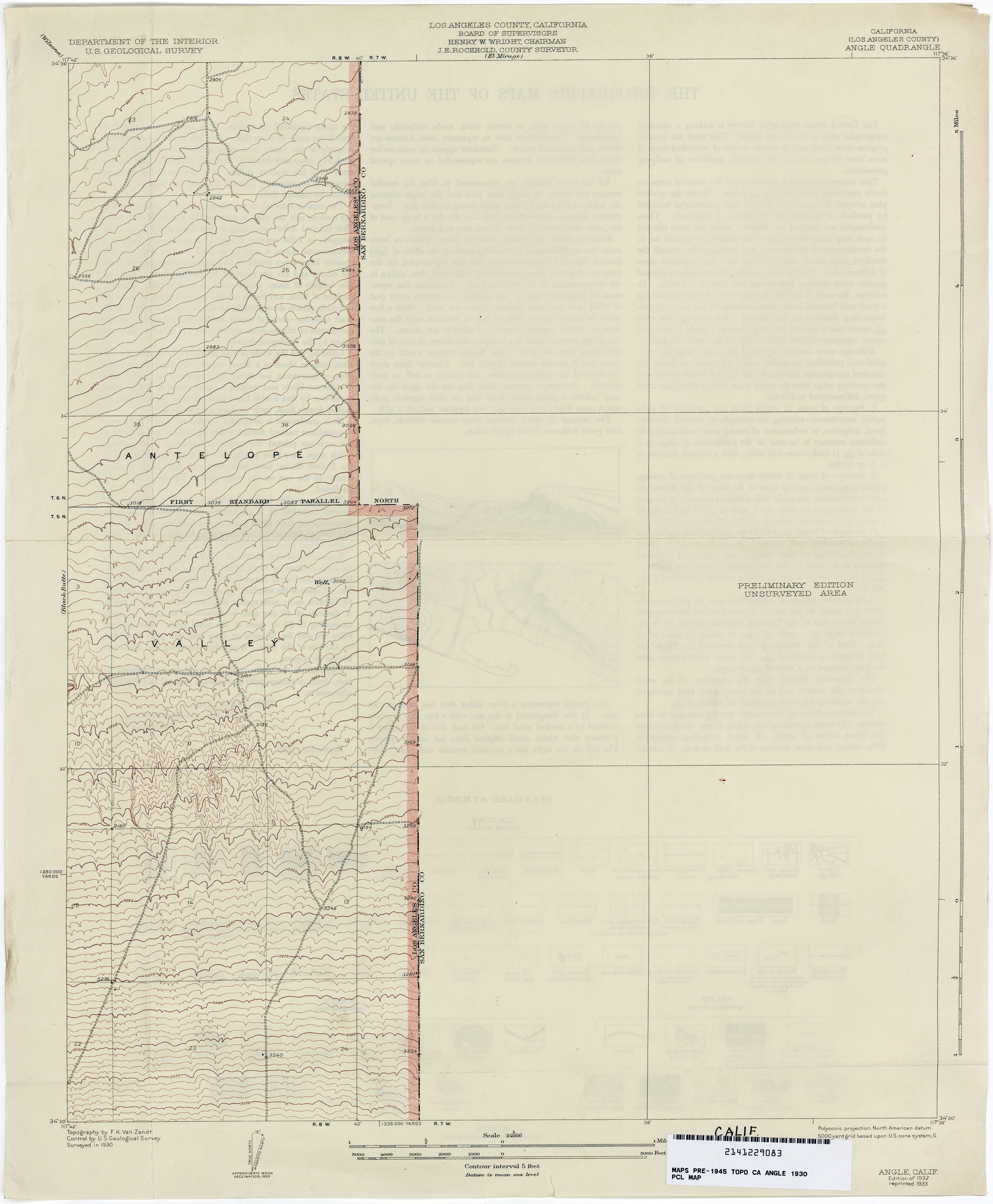 California Topographic Maps PerryCastañeda Map Collection UT - Kaiser west los angeles map