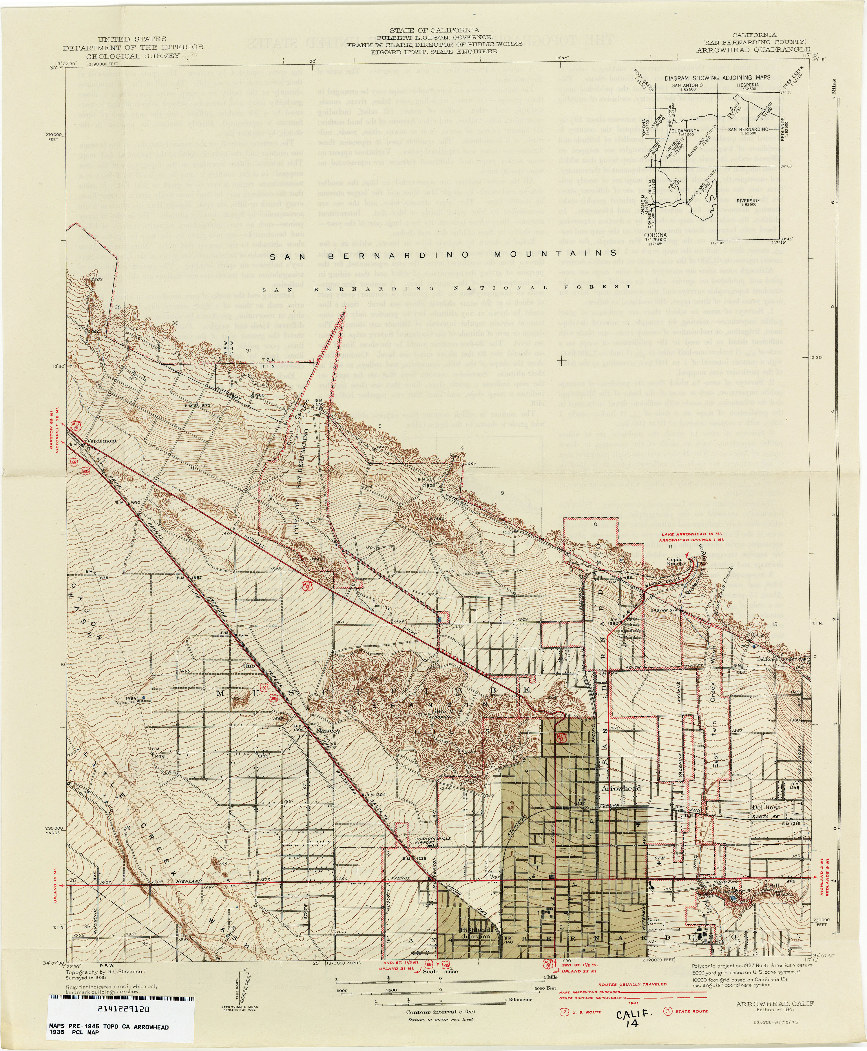 California Topographic Maps PerryCastañeda Map Collection UT - Map of san bernardino county