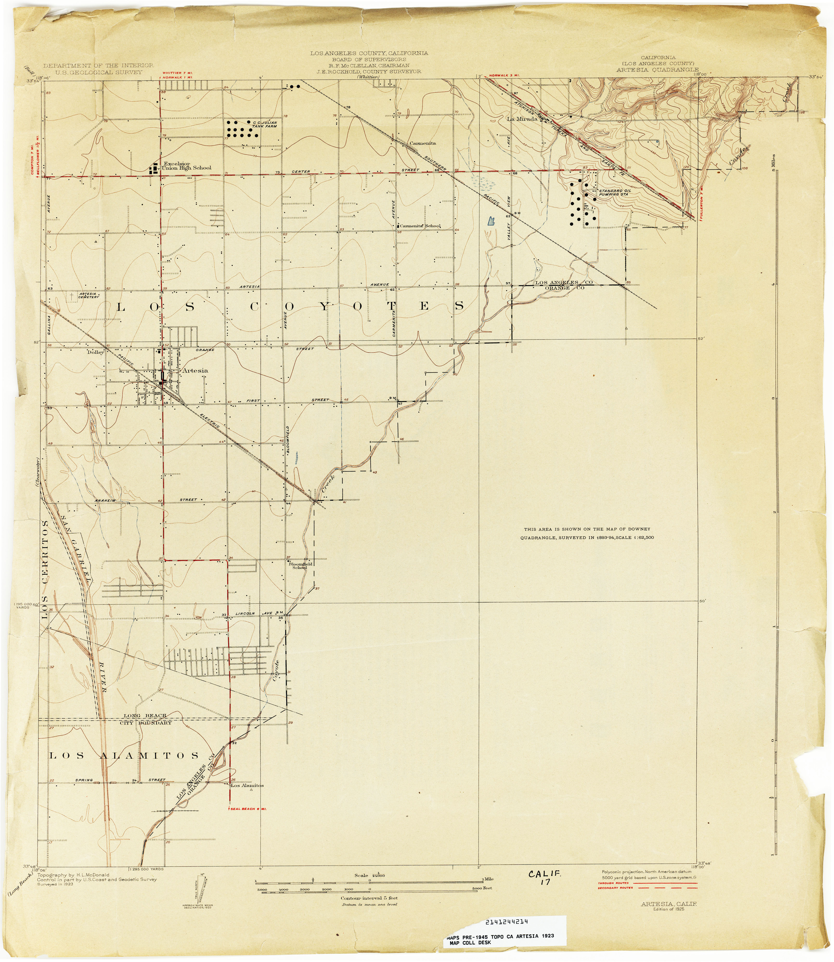 Los Reyes County Arizona Map.California Topographic Maps Perry Castaneda Map Collection Ut