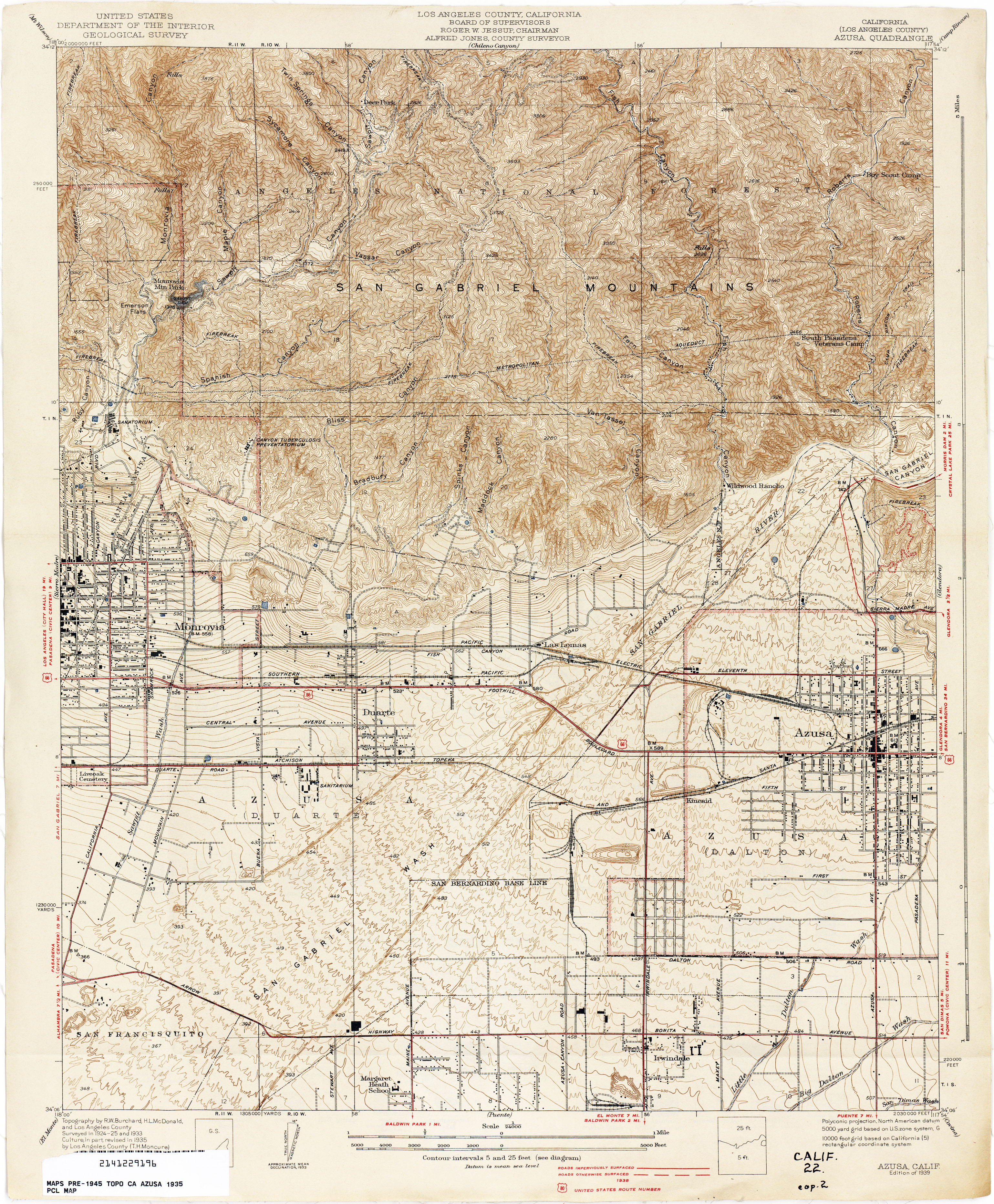 California Topographic Maps PerryCastañeda Map Collection UT - Los angeles county map pdf