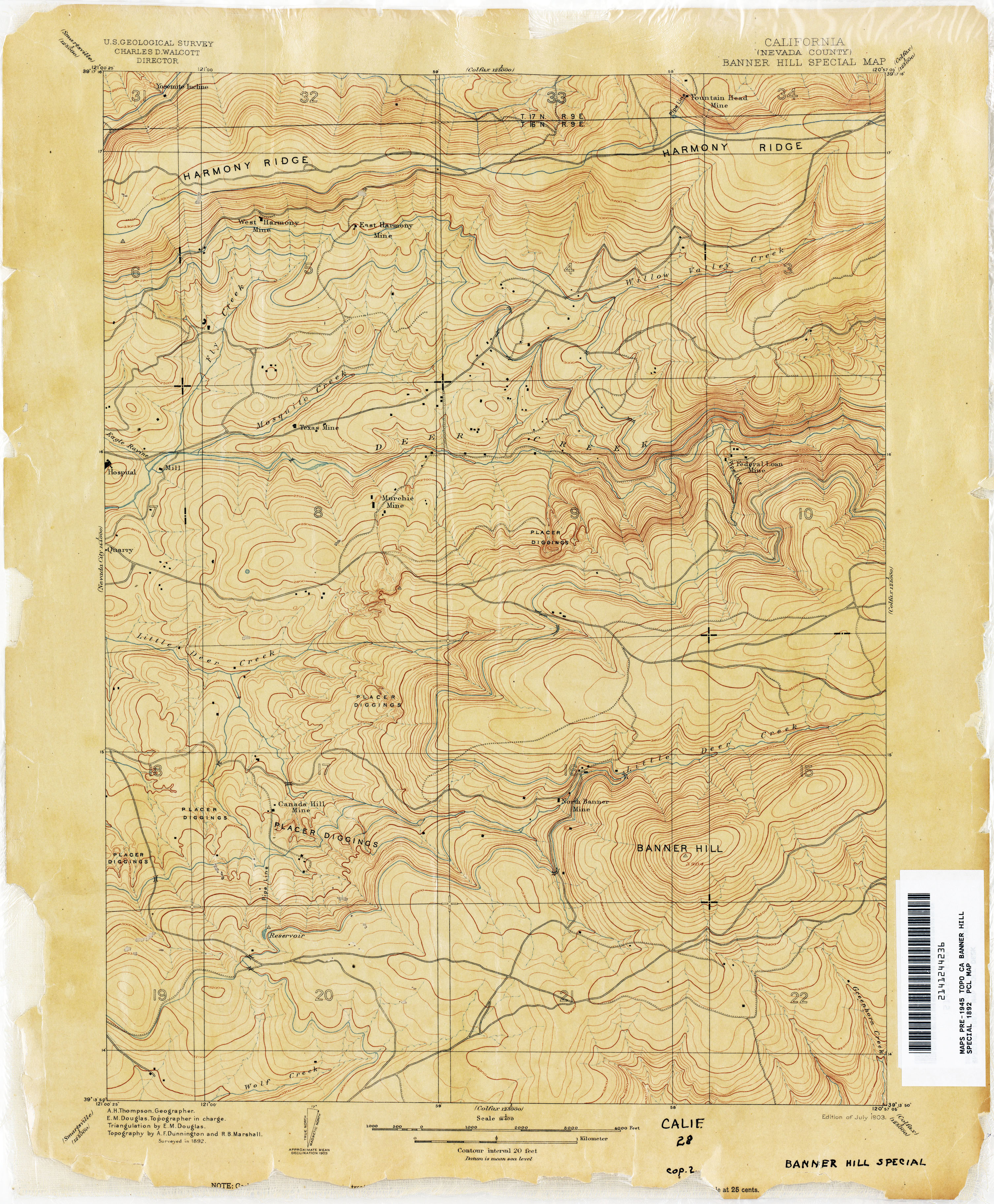 California Topographic Maps PerryCastaeda Map Collection UT