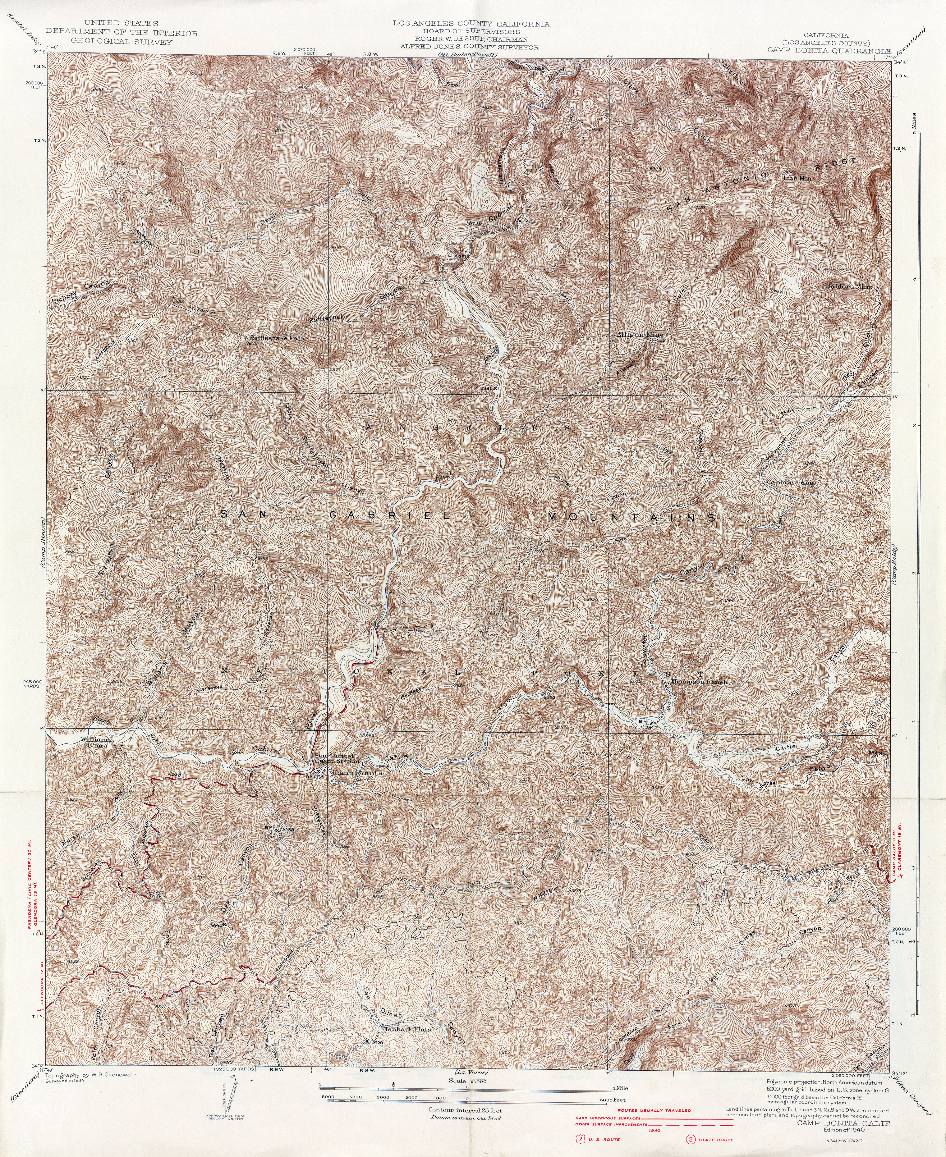 California Topographic Maps PerryCastañeda Map Collection UT - 1934 us highways map