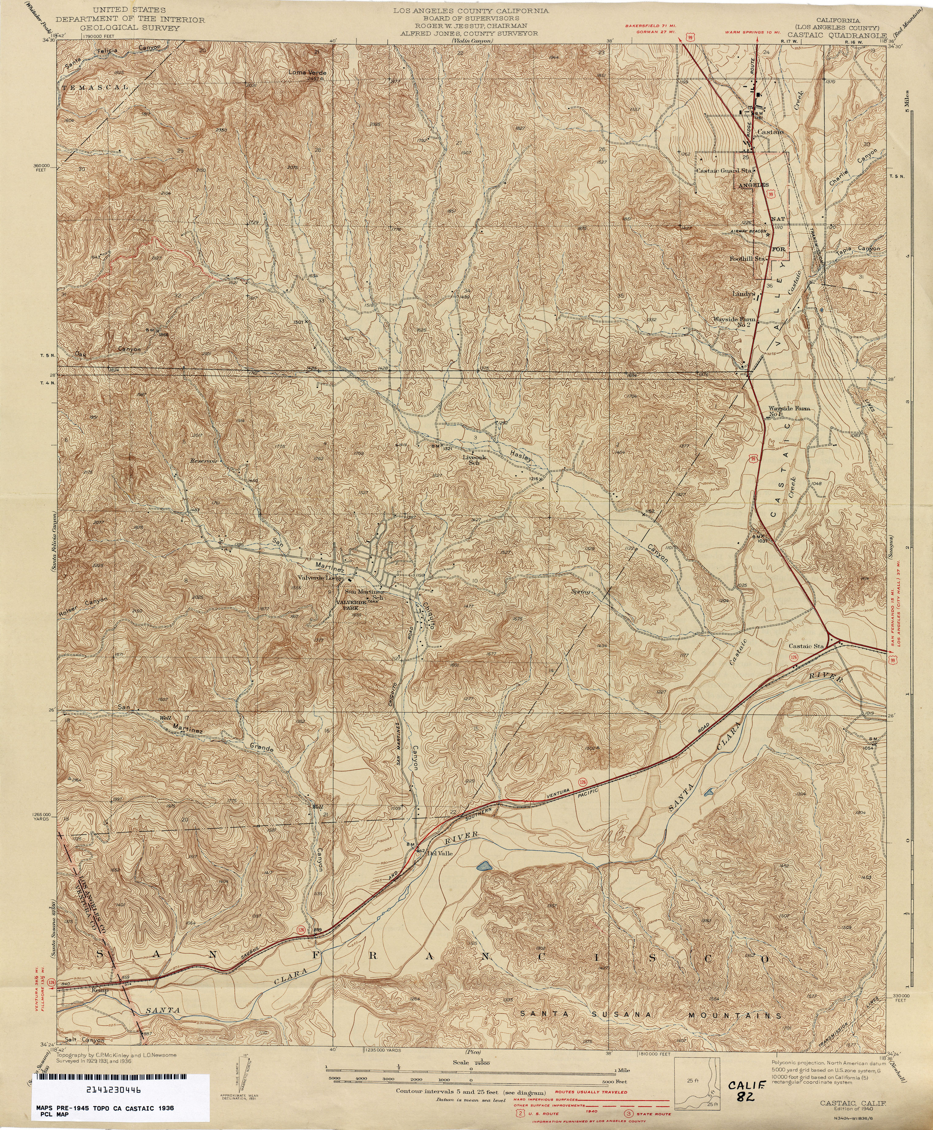 California Topographic Maps PerryCastañeda Map Collection UT - Los angeles california map united states