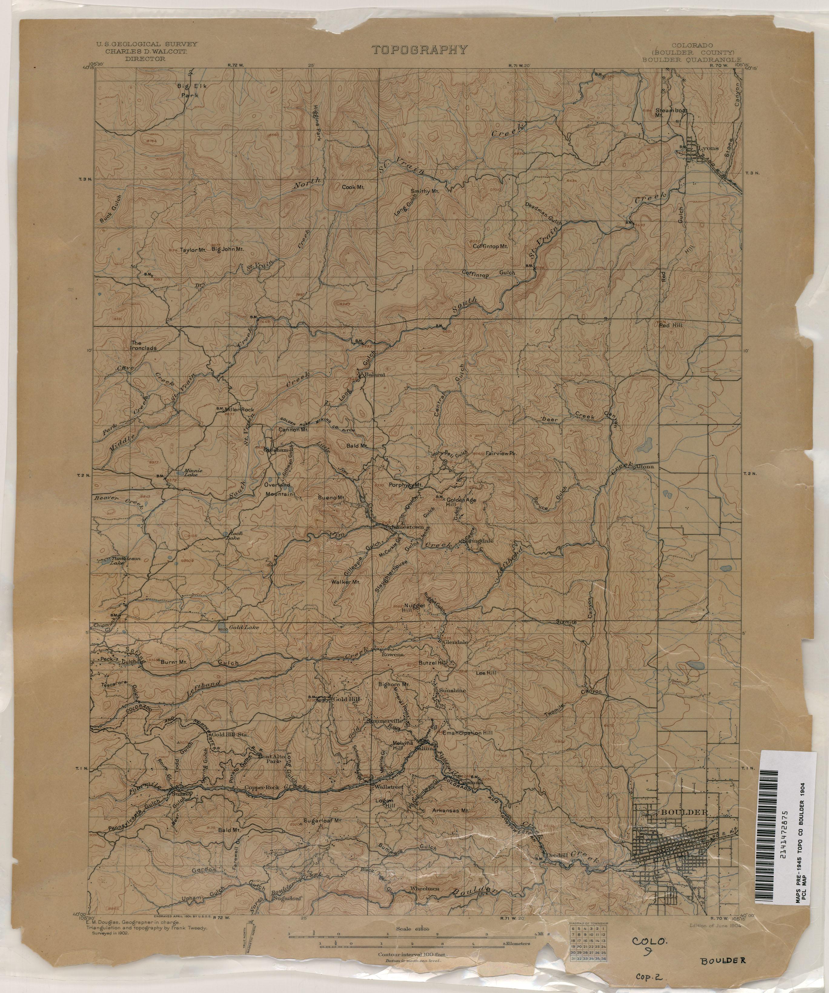 Colorado Historical Topographic Maps PerryCastaeda Map