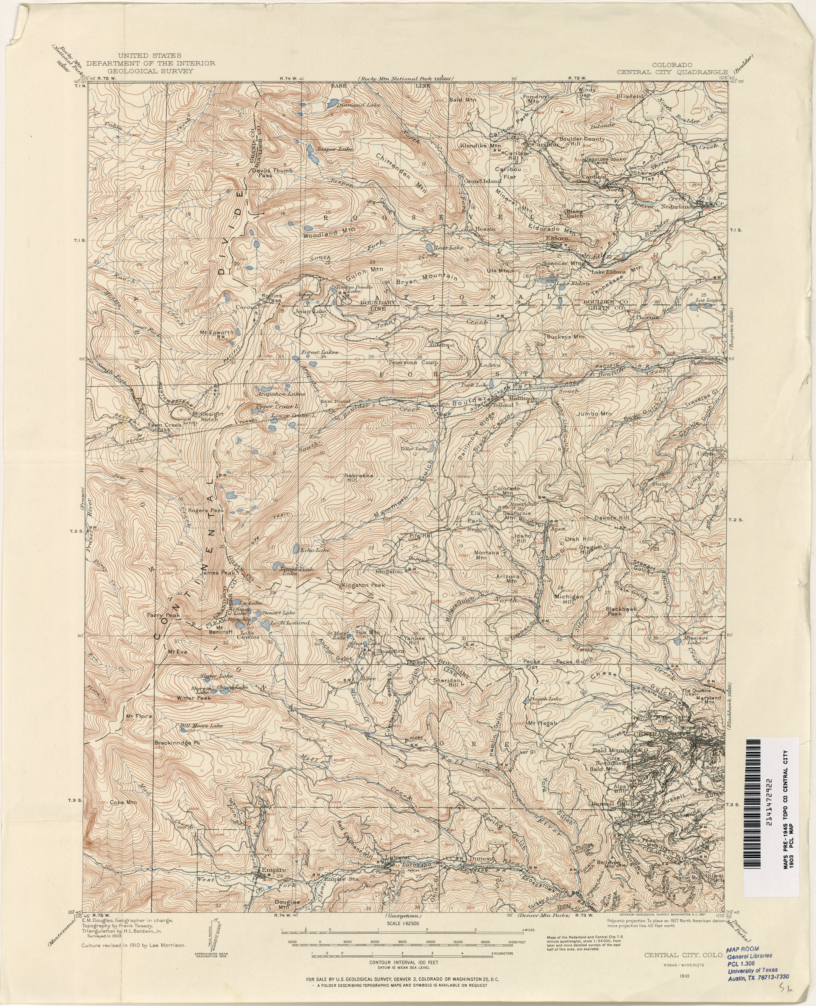 Colorado Historical Topographic Maps Perry Castaneda Map