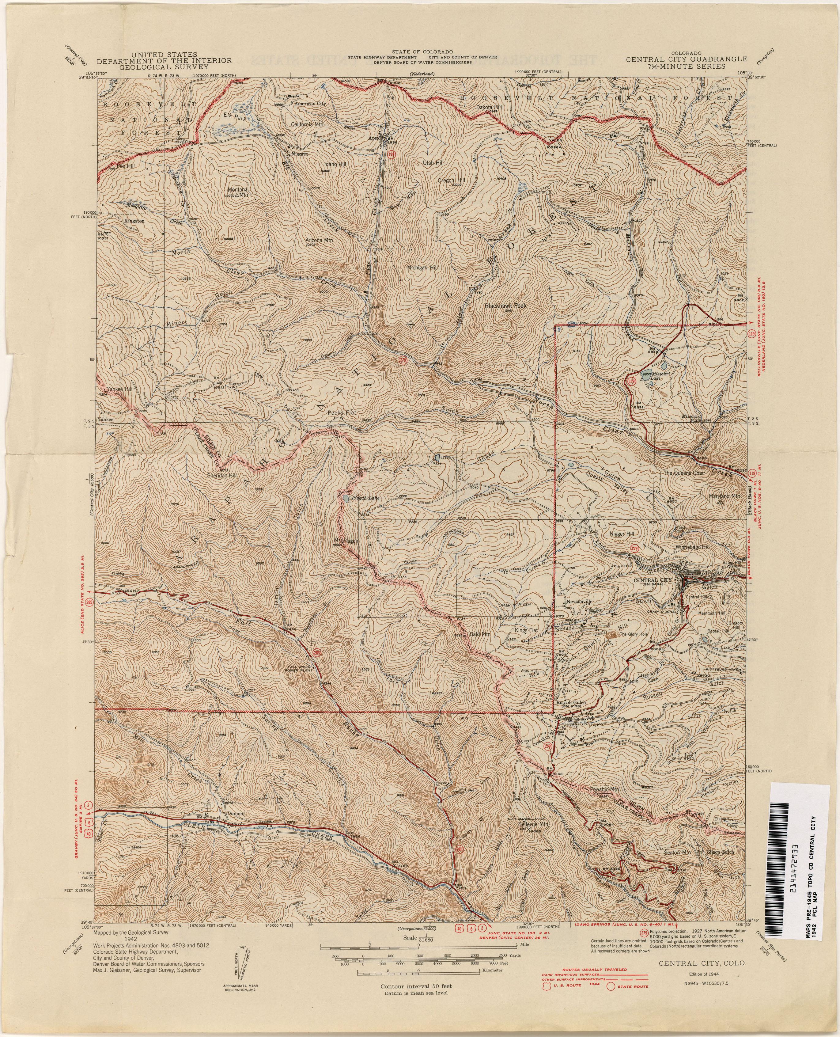 Colorado Historical Topographic Maps Perry Castaneda Map