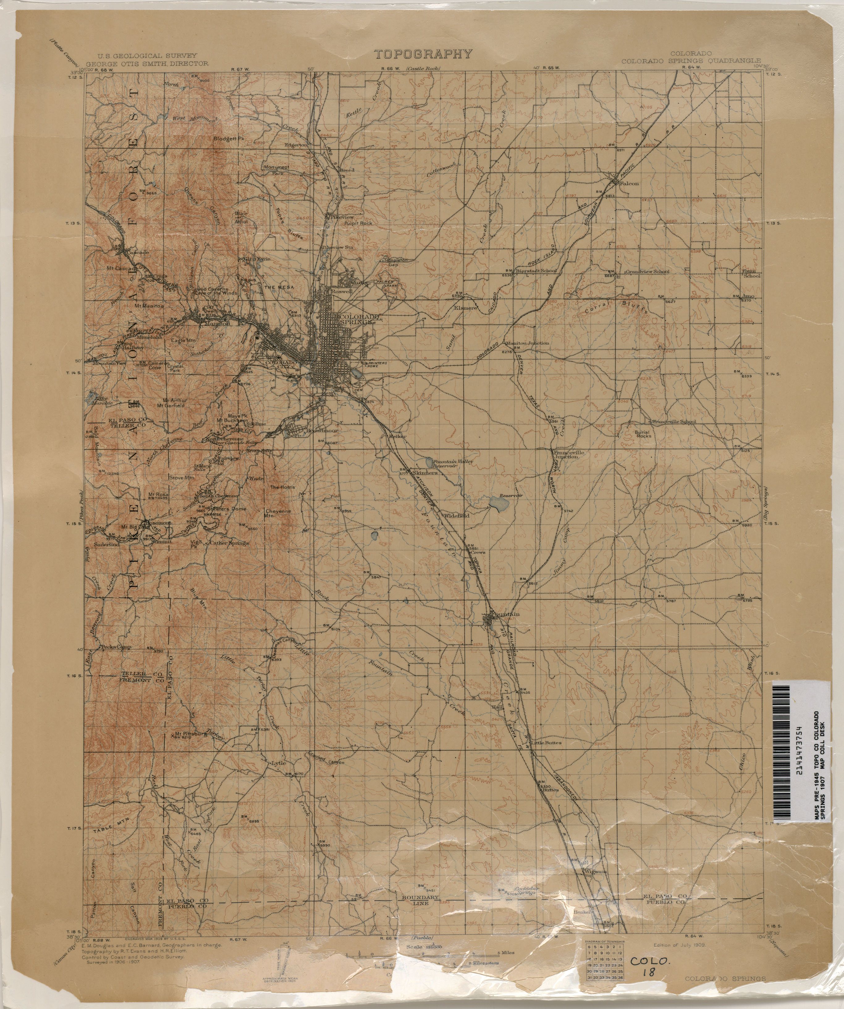 Colorado historical topographic maps perry castaeda map colorado springs publicscrutiny Images