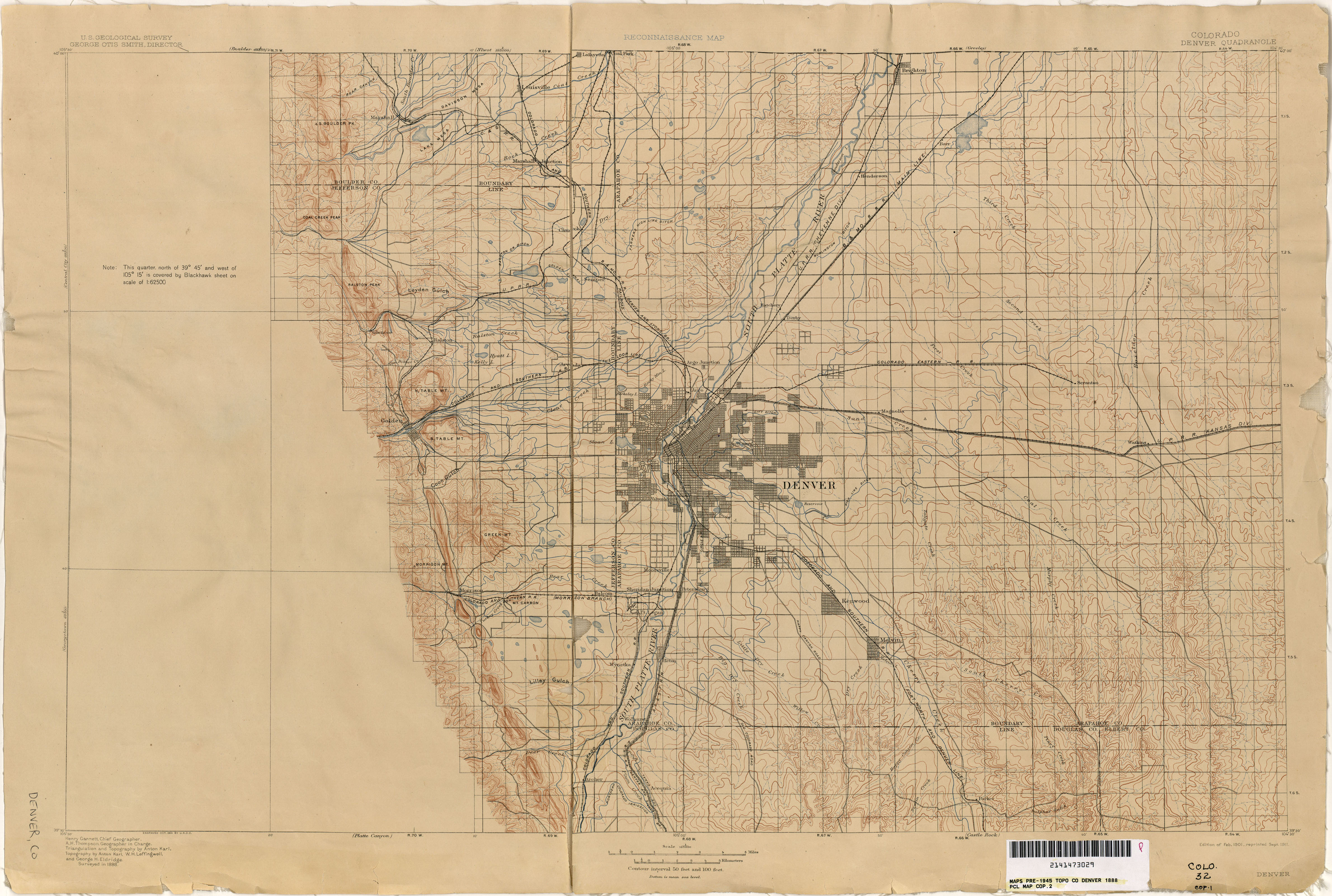 Colorado Historical Topographic Maps PerryCastañeda Map - Colorado map of us