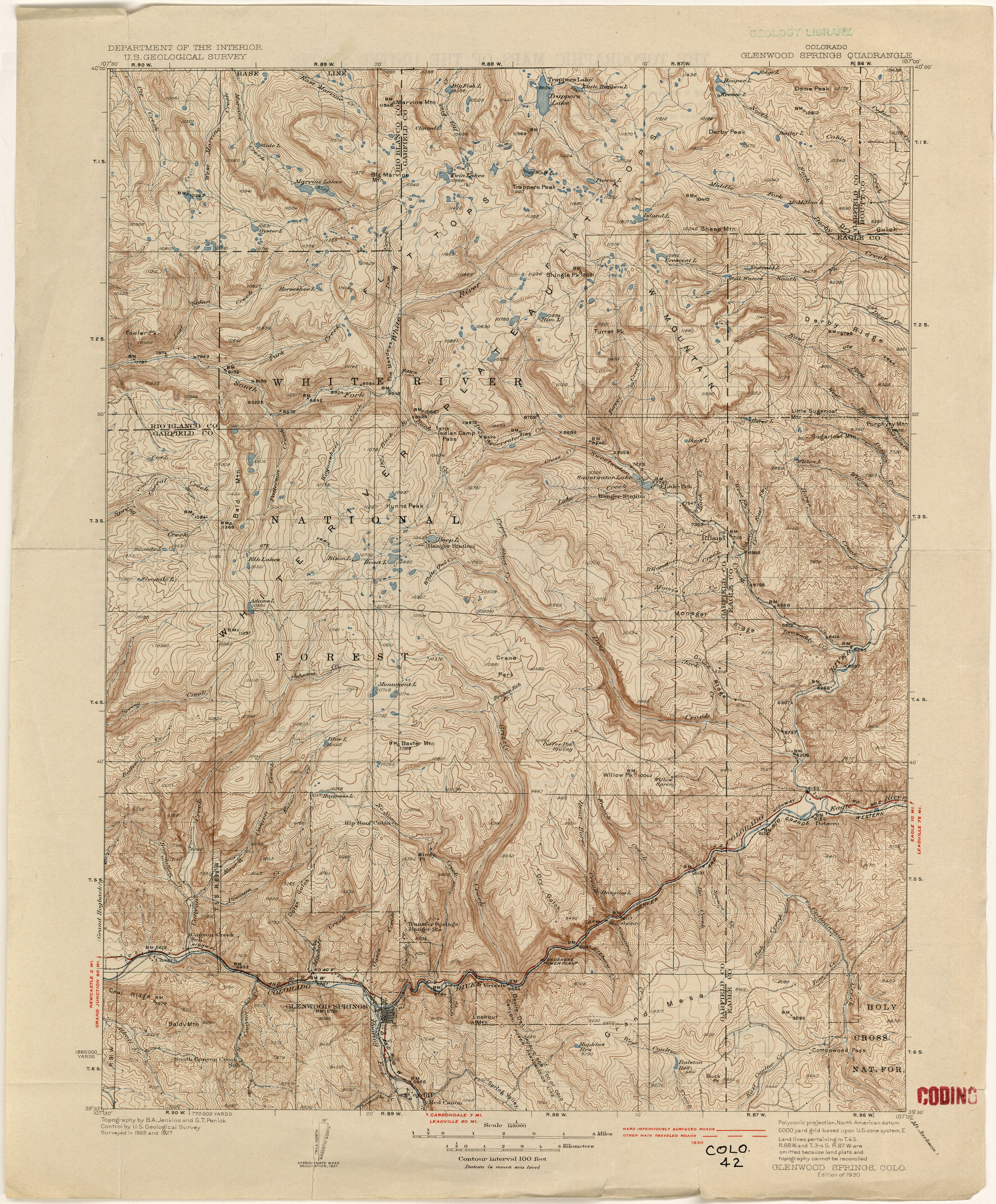 Topographic Map Of A Mountain.Colorado Historical Topographic Maps Perry Castaneda Map