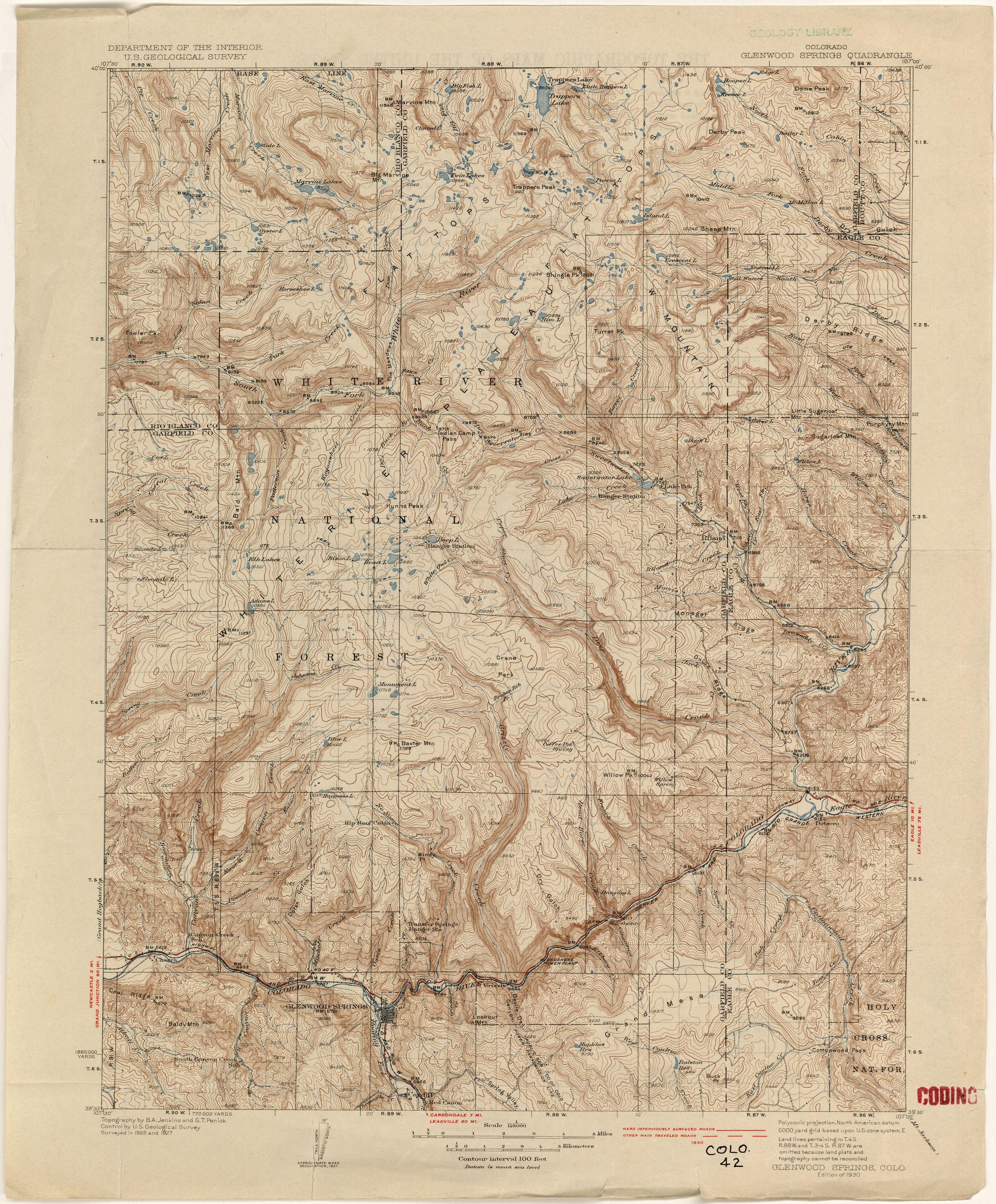 Jefferson County CO Denver Superior Boulder Marshall Antique Louisville Colorado 1957 US Geological Survey Topographic Map \u2013 Boulder