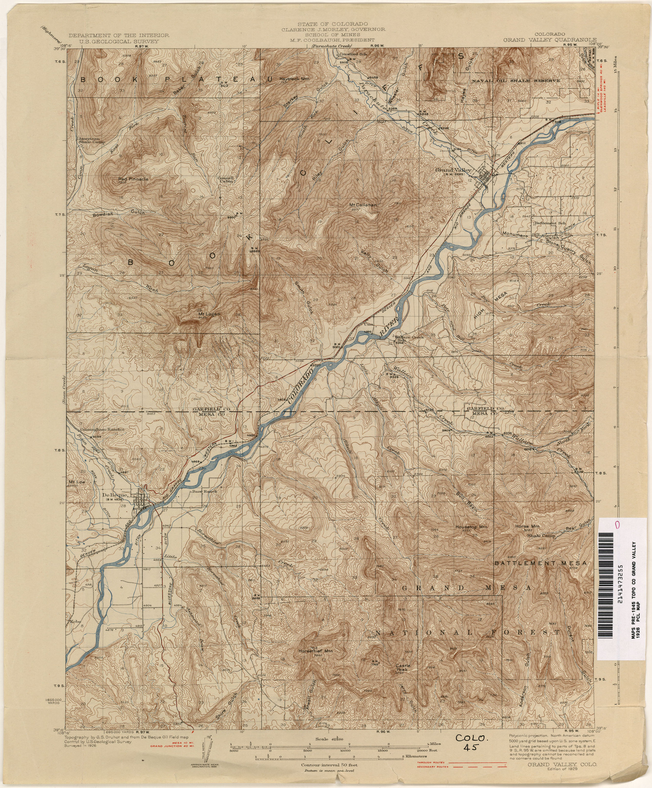 Colorado Historical Topographic Maps PerryCastañeda Map - Colorado topo maps