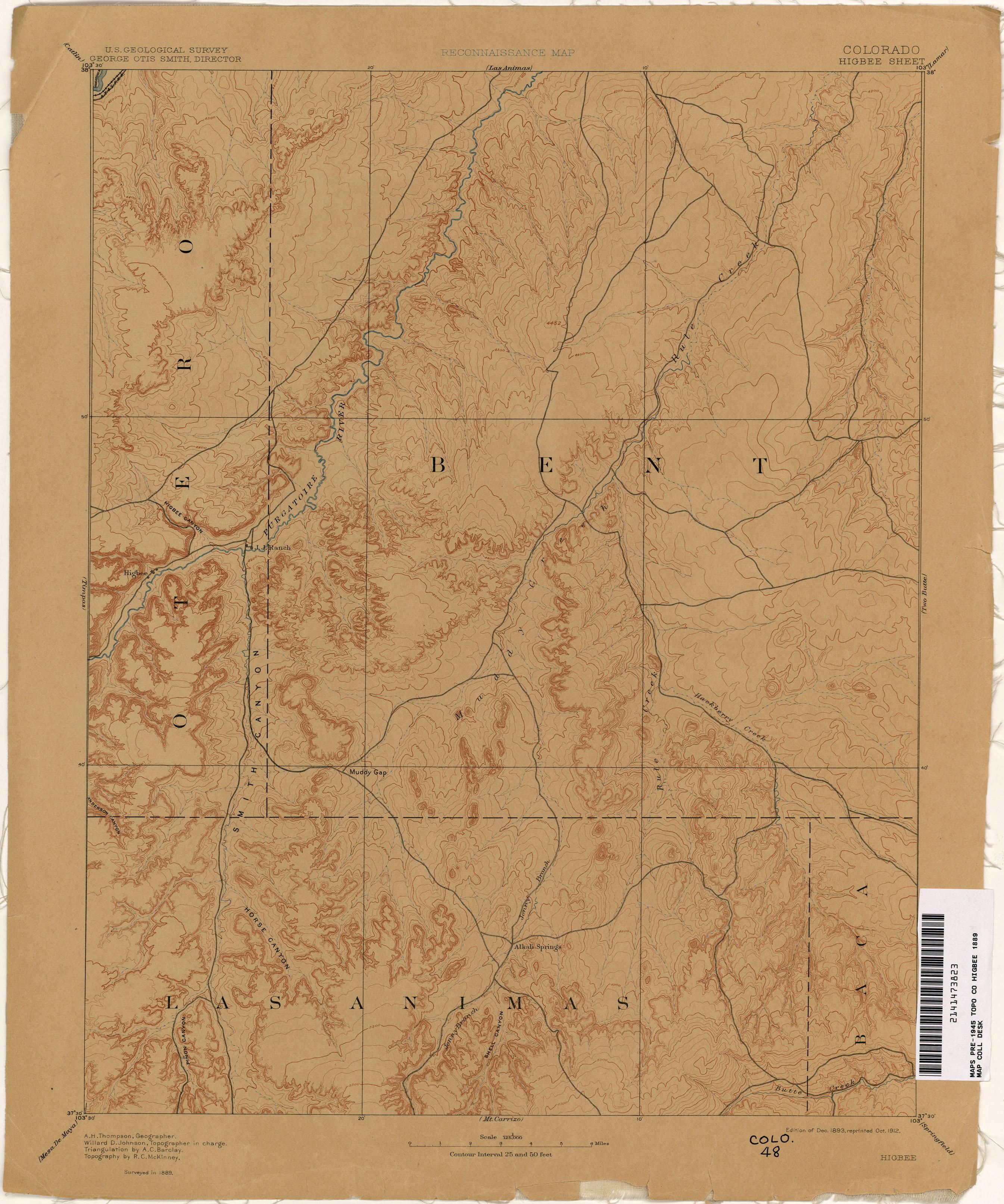 Springfield Colorado Map.Colorado Historical Topographic Maps Perry Castaneda Map