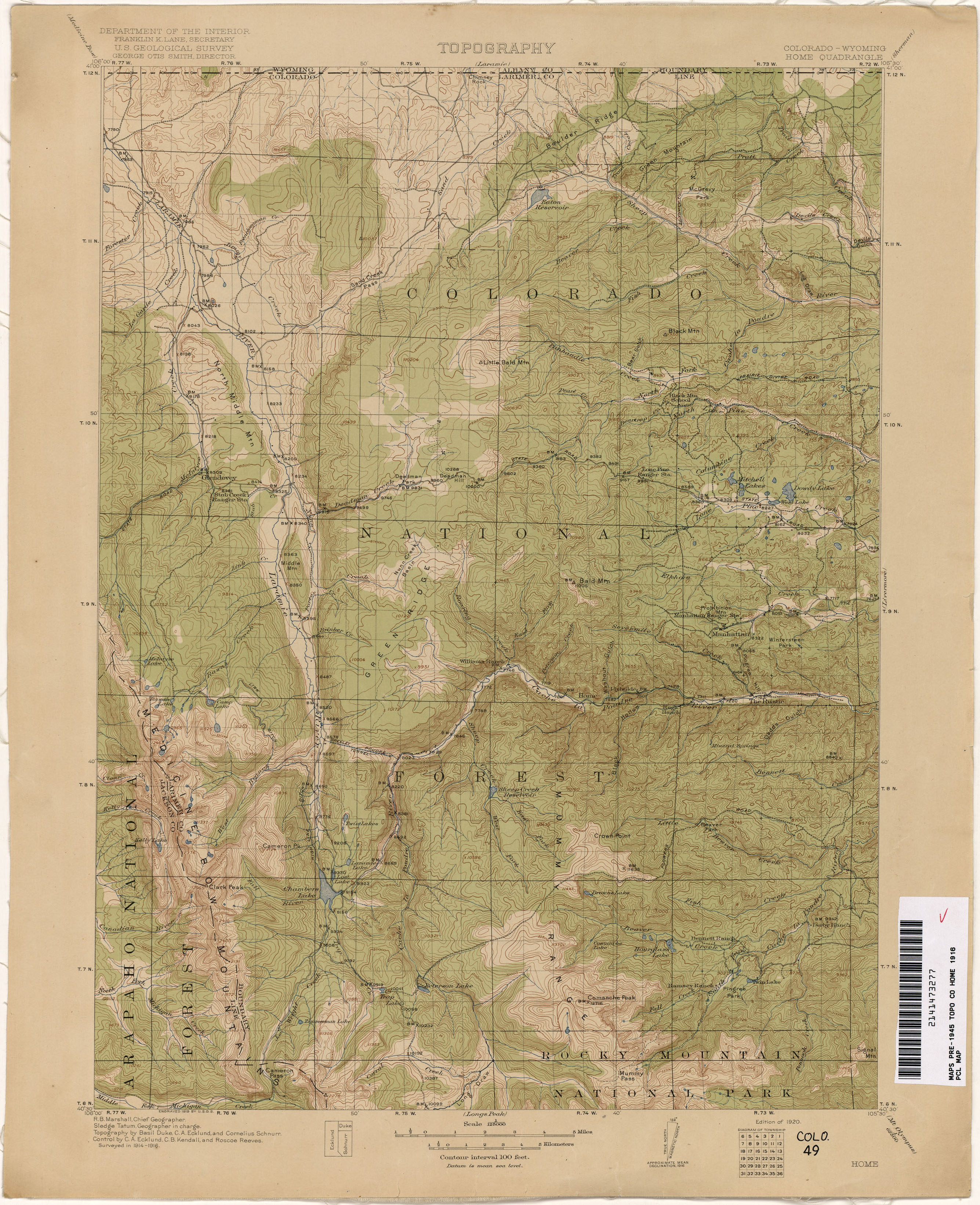 Colorado Historical Topographic Maps PerryCastañeda Map - Map of colo