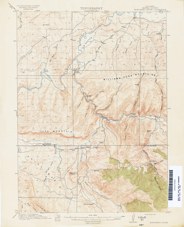 Colorado Historical Topographic Maps - Perry-Castañeda Map ...