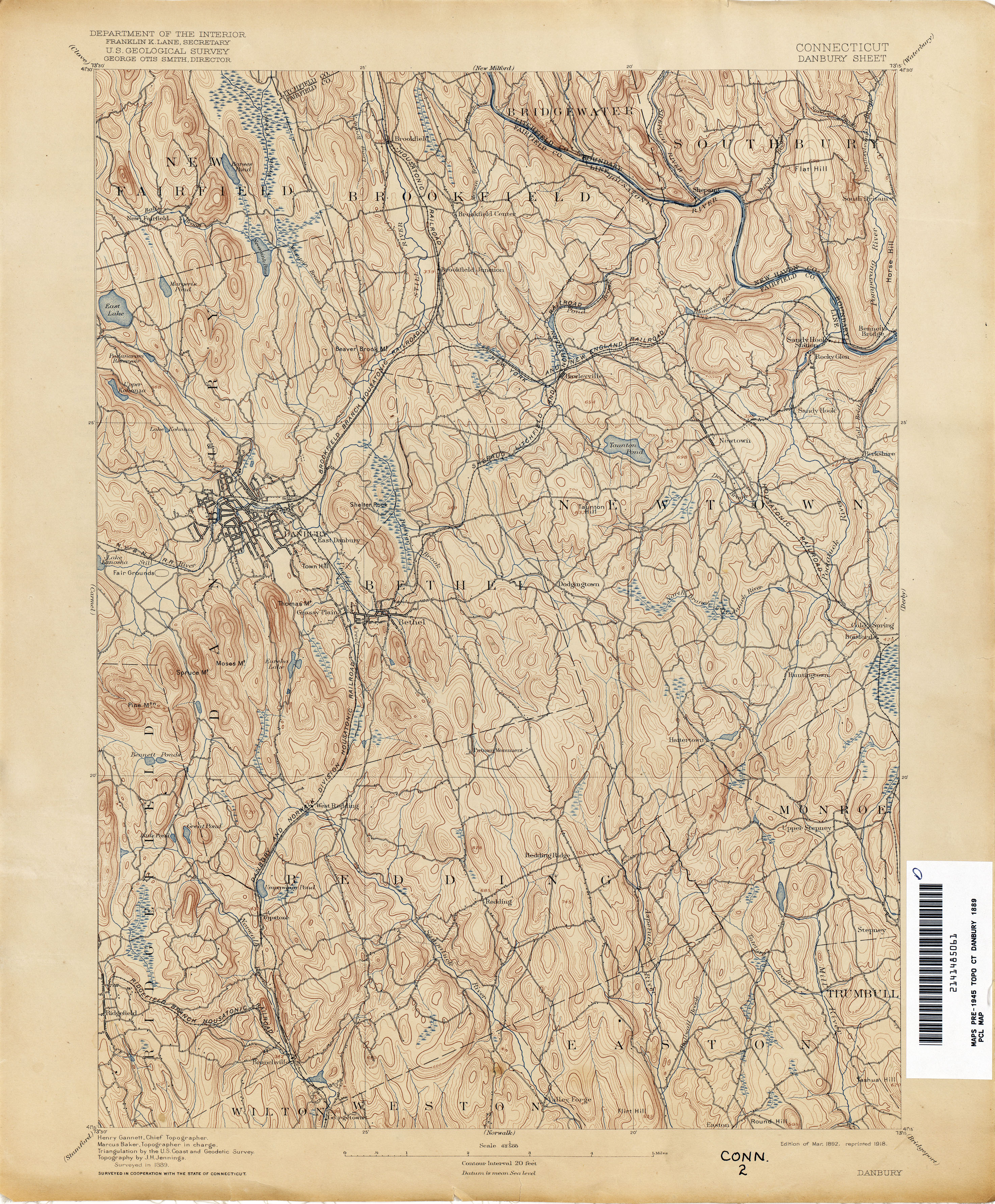 Connecticut Historical Topographic Maps PerryCastaeda Map
