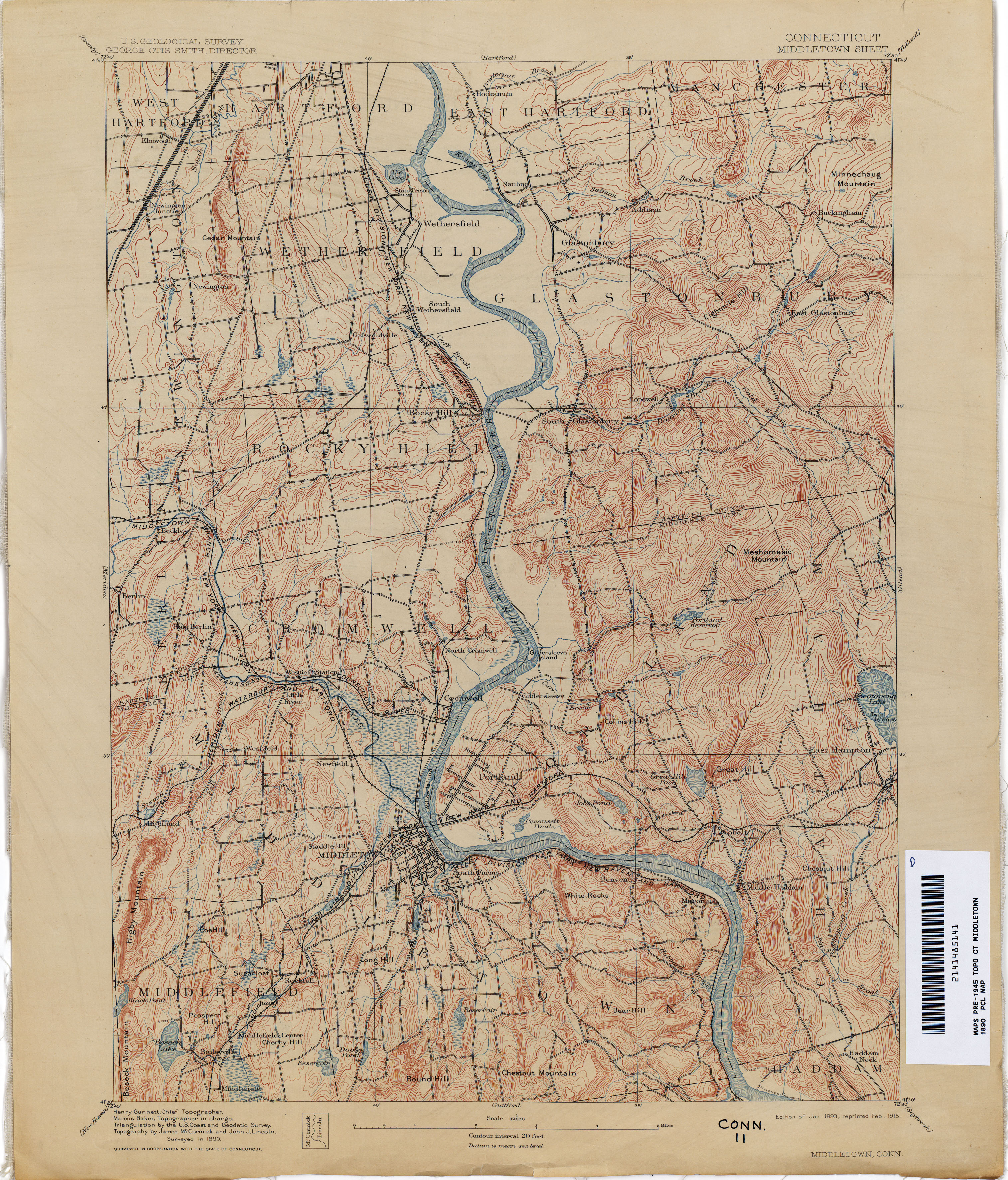 connecticut historical topographic maps