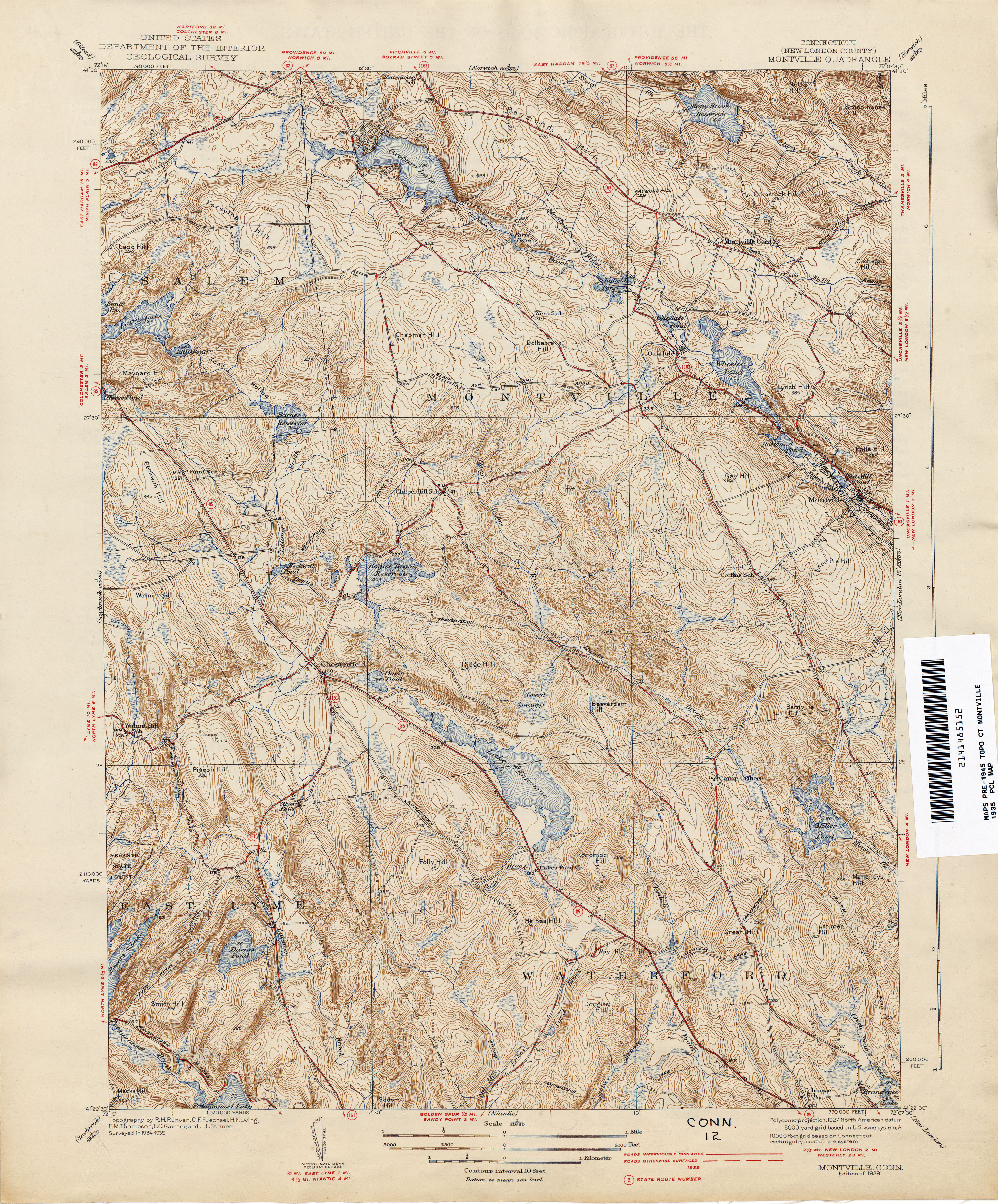 Topographic Map Ct.Connecticut Historical Topographic Maps Perry Castaneda Map