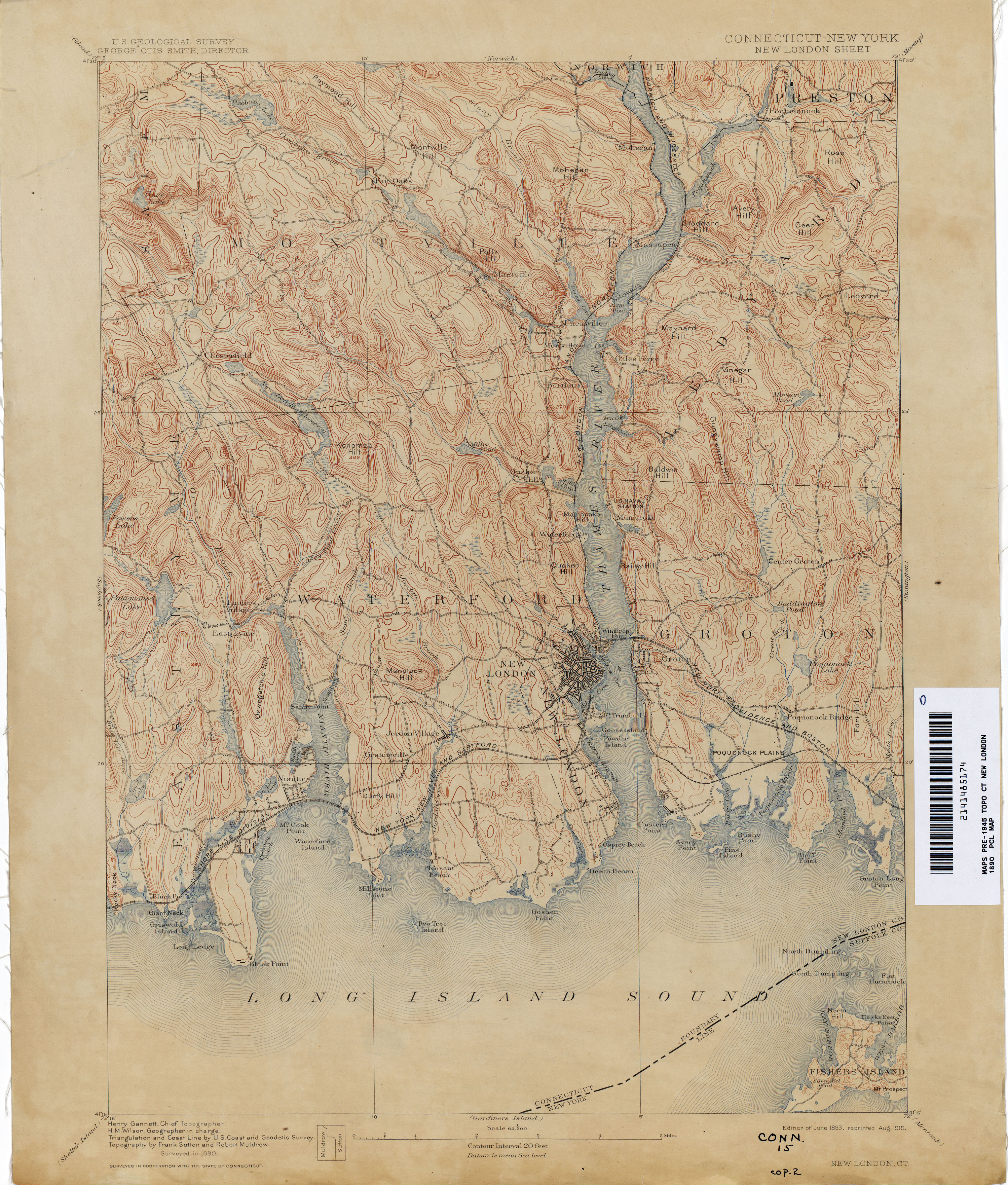 Connecticut Historical Topographic Maps PerryCastañeda Map - London map historical