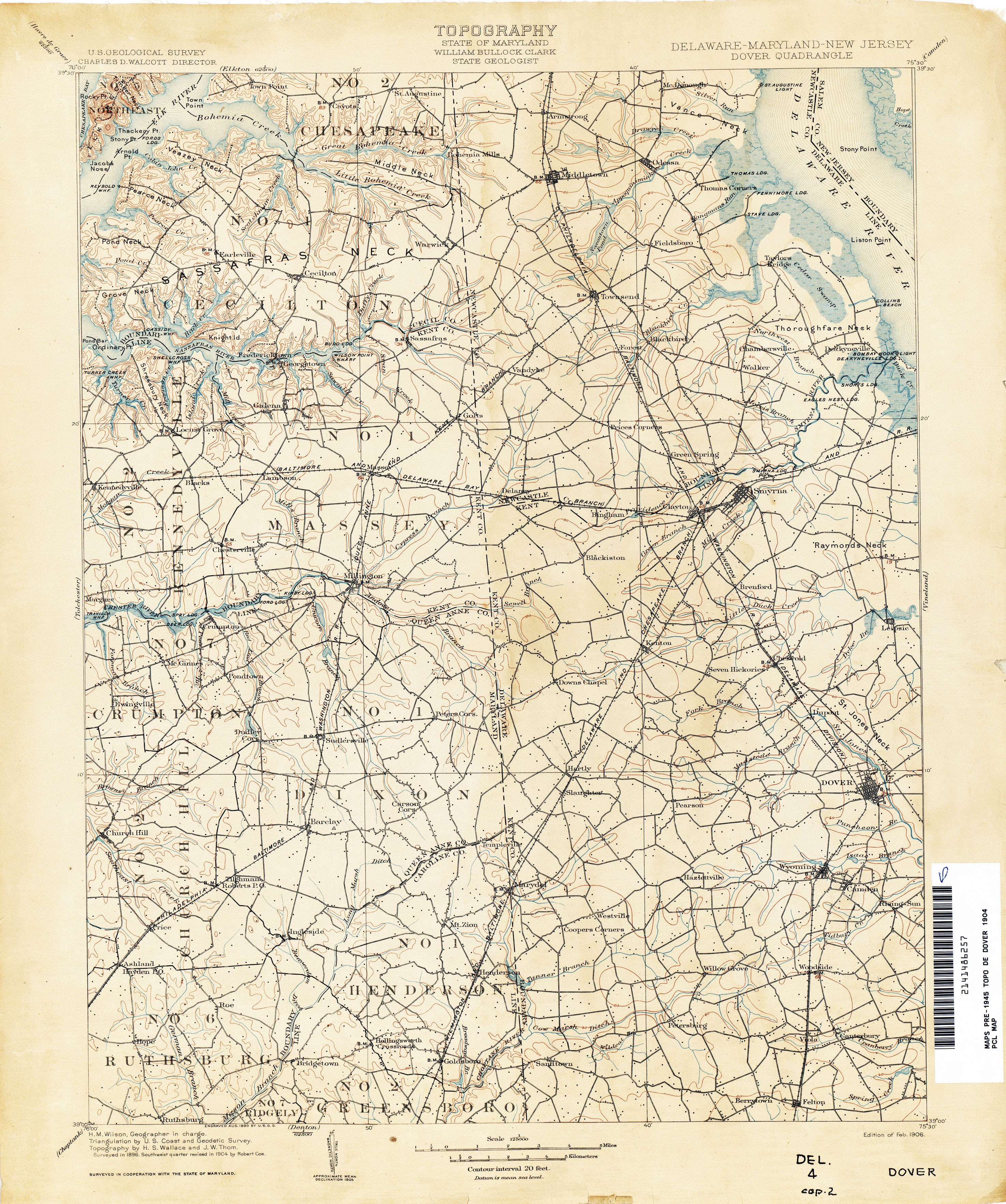 Delaware Historical Topographic Maps Perry Castaneda Map