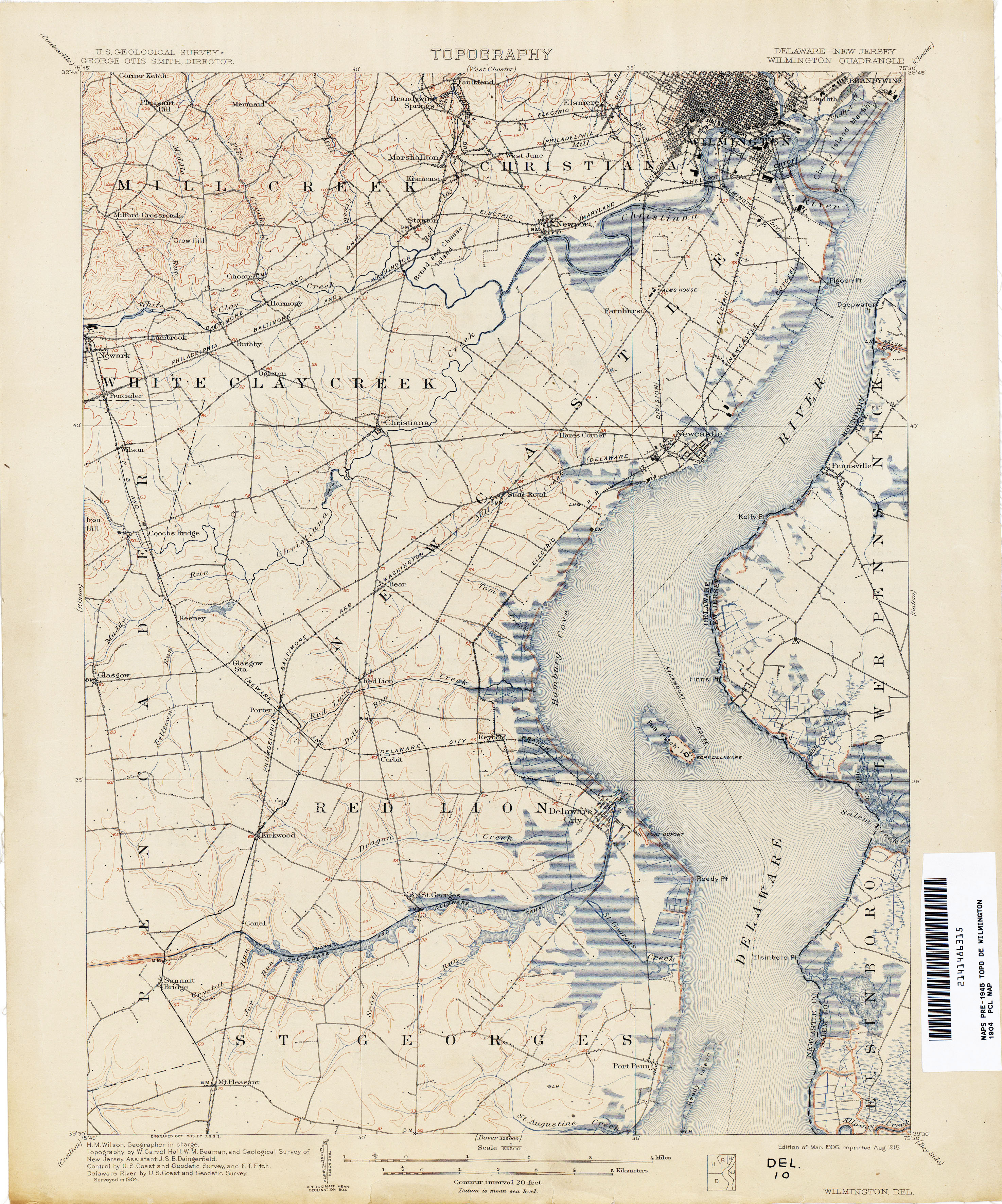 Delaware Historical Topographic Maps PerryCastañeda Map - Delaware map