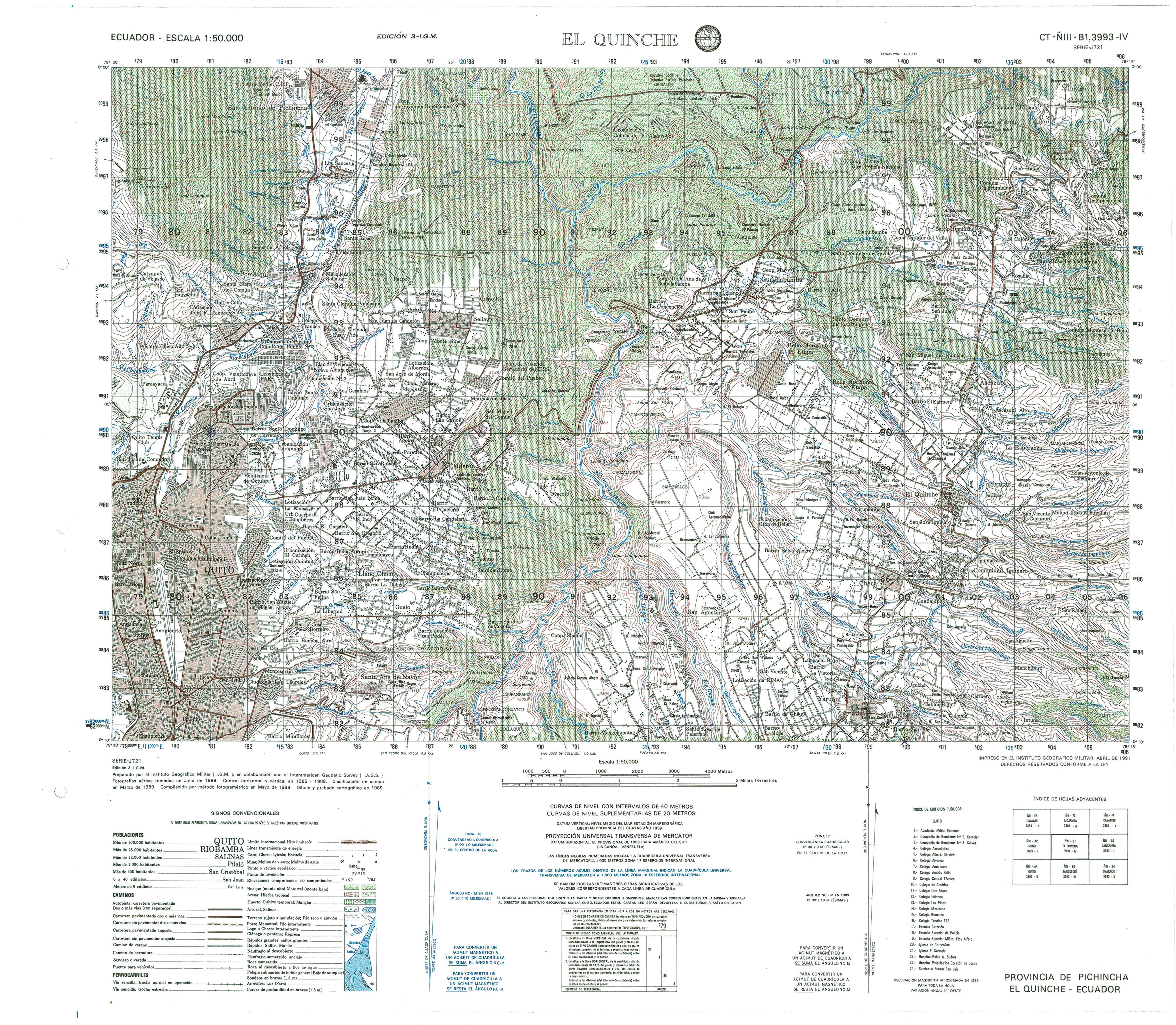 Ecuador Topographic Maps - Perry-Castañeda Map Collection ...