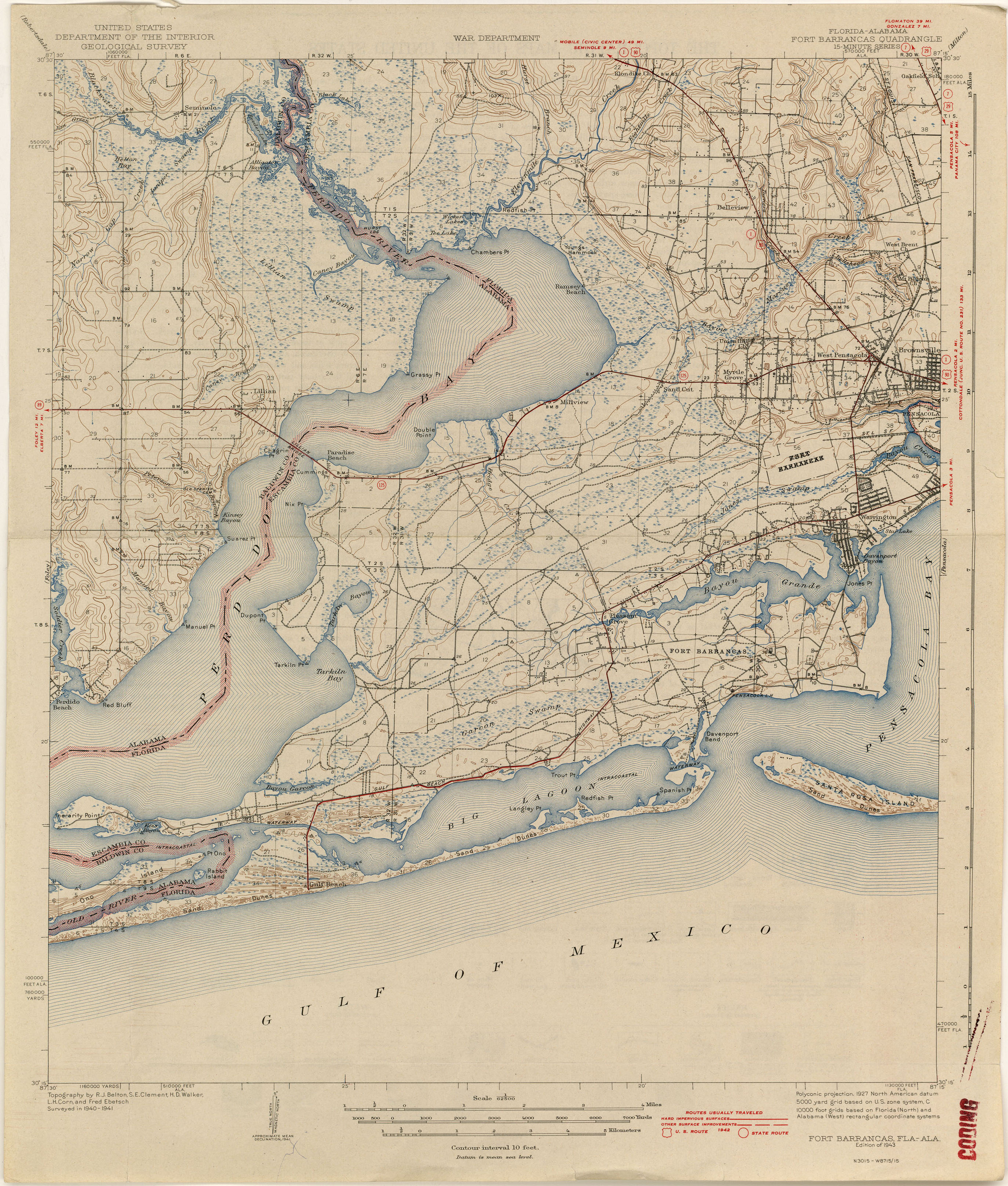 Alabama Topographic Maps PerryCastañeda Map Collection UT - Topographical map of florida