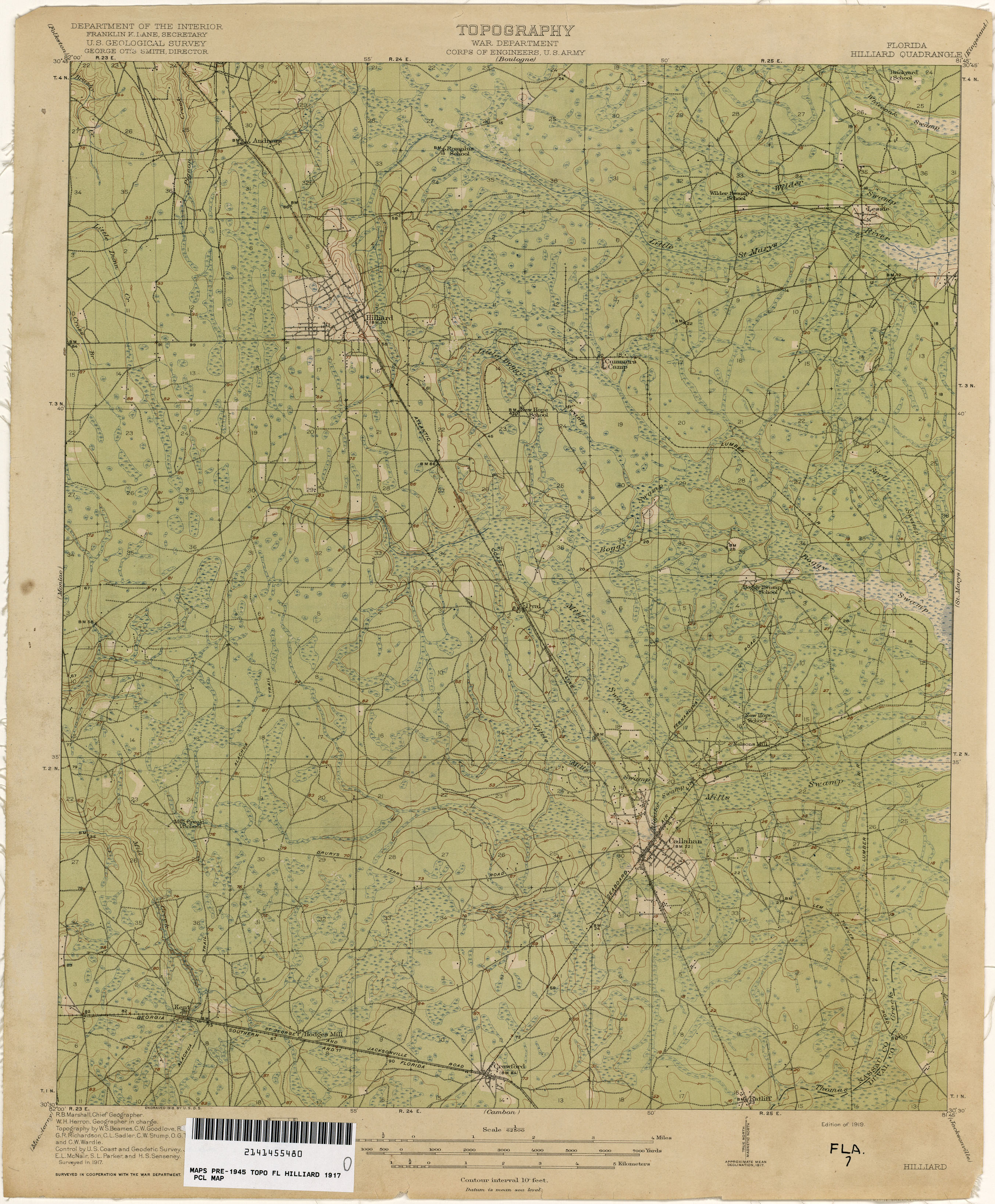 Florida Historical Topographic Maps PerryCastañeda Map - Florida quad map