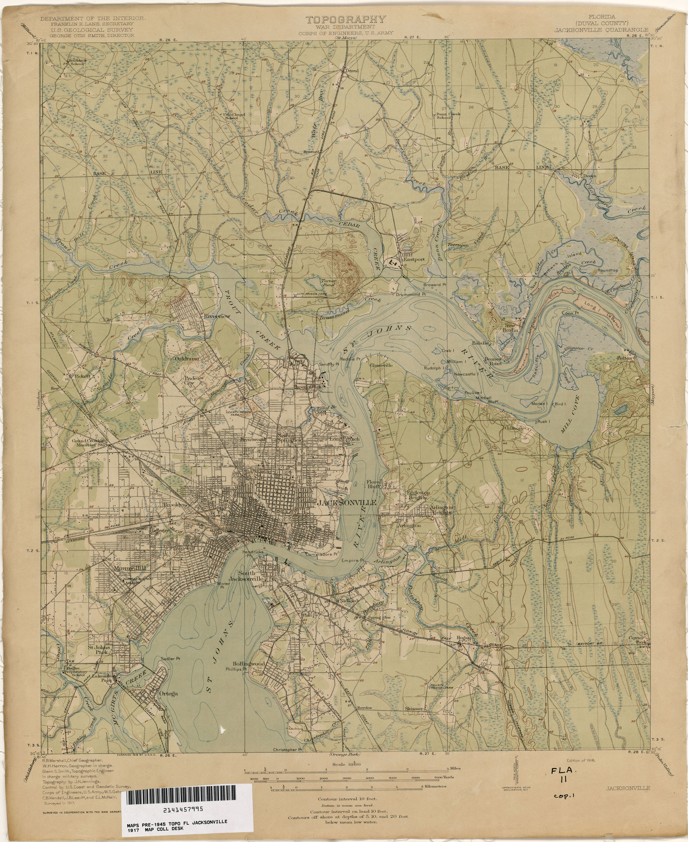 Map Jacksonville Florida.Florida Historical Topographic Maps Perry Castaneda Map Collection