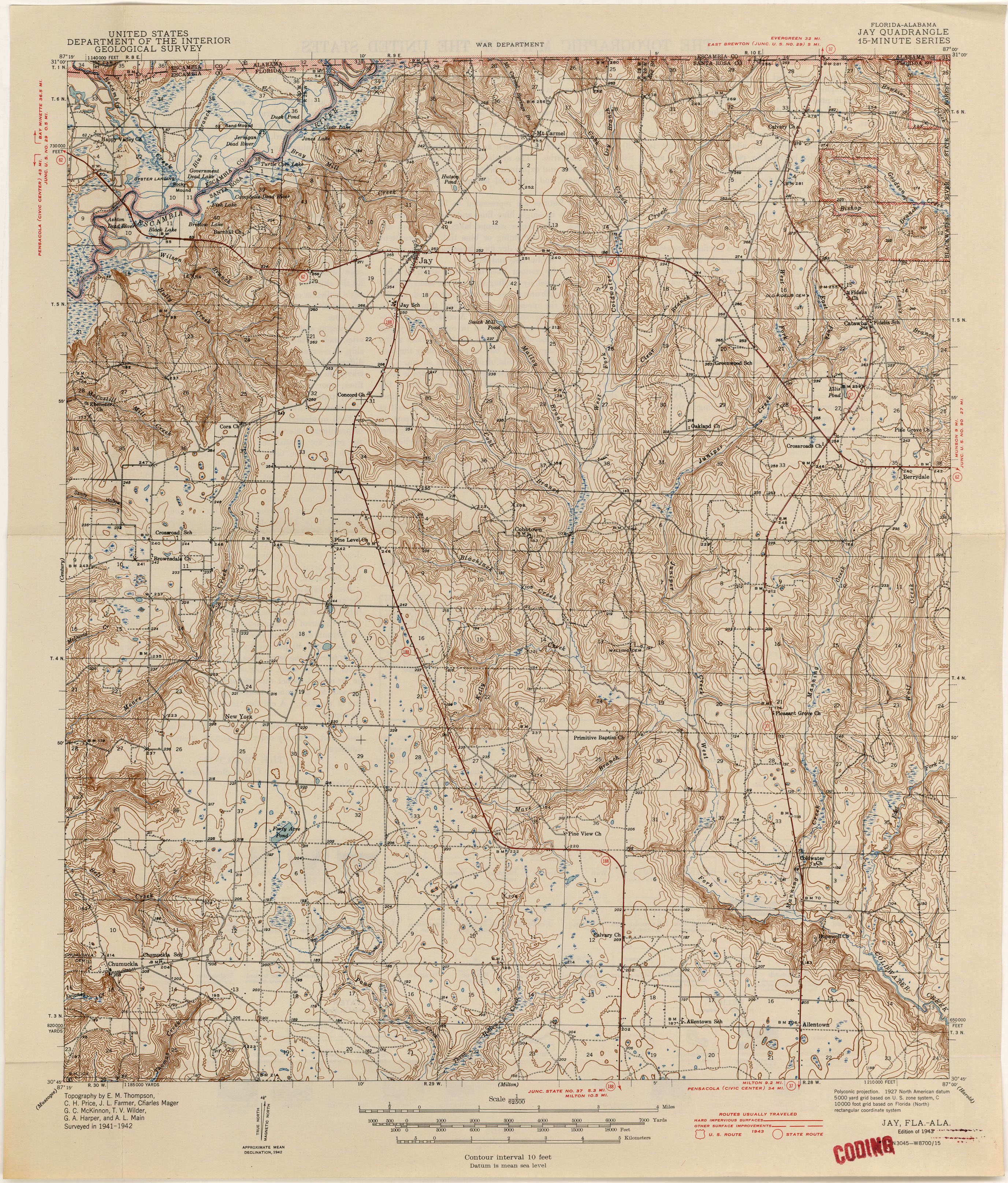 Florida Historical Topographic Maps - Perry-Castañeda Map ... on map of enterprise alabama, map gainesville fl, mapquest of jay fl, map of jay ok, map of central florida, map of jay vt, map of jay ny, map of georgia and florida,