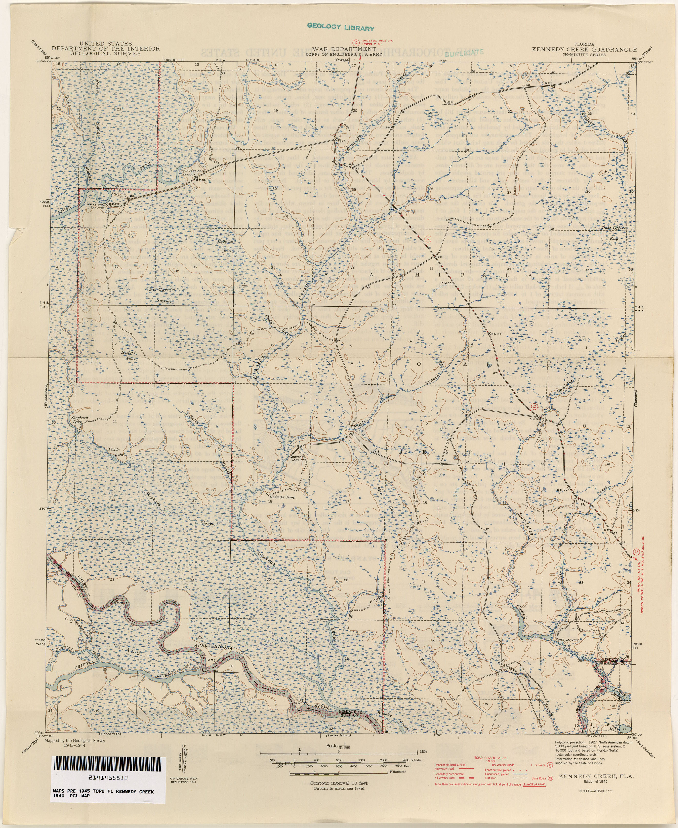 Florida Historical Topographic Maps PerryCastañeda Map - Map of fl