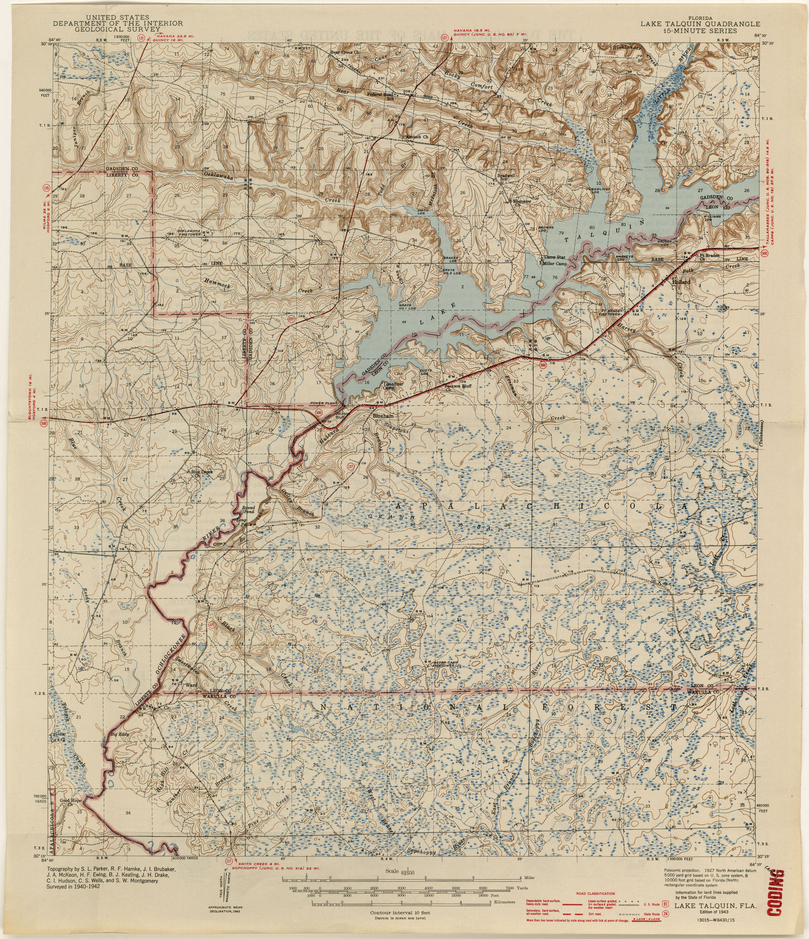 Florida Historical Topographic Maps PerryCastañeda Map - Map of fla
