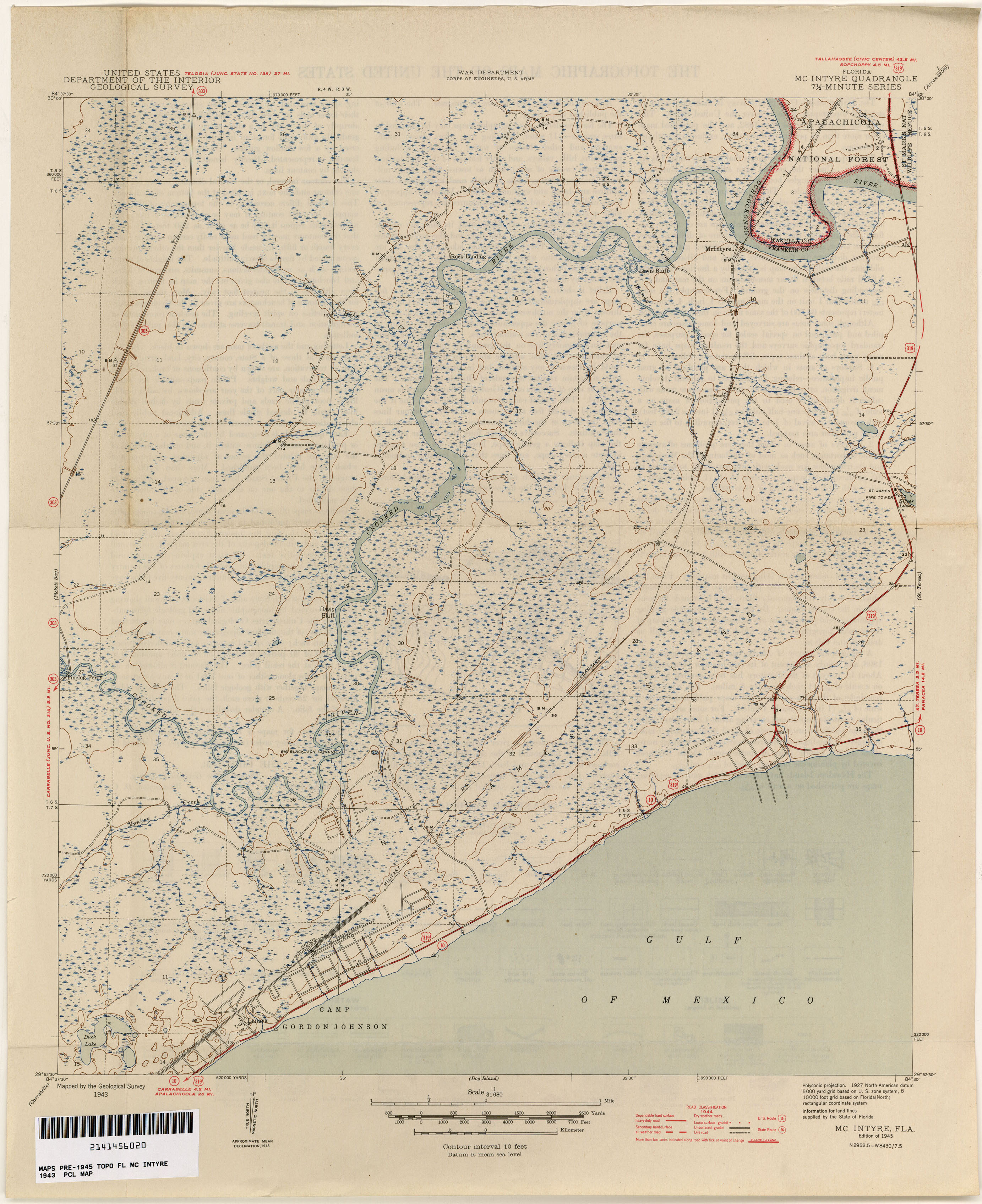 Dog Island Florida Map.Florida Historical Topographic Maps Perry Castaneda Map Collection