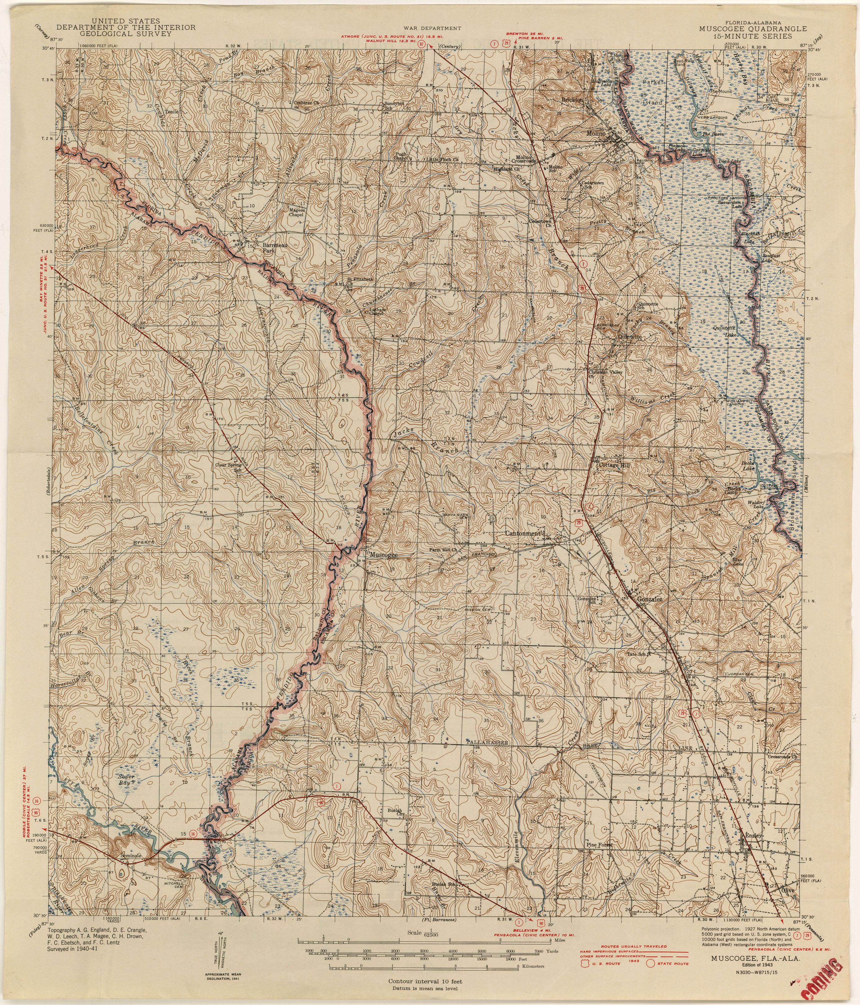 Alabama Topographic Maps PerryCastañeda Map Collection UT - Florida quad map