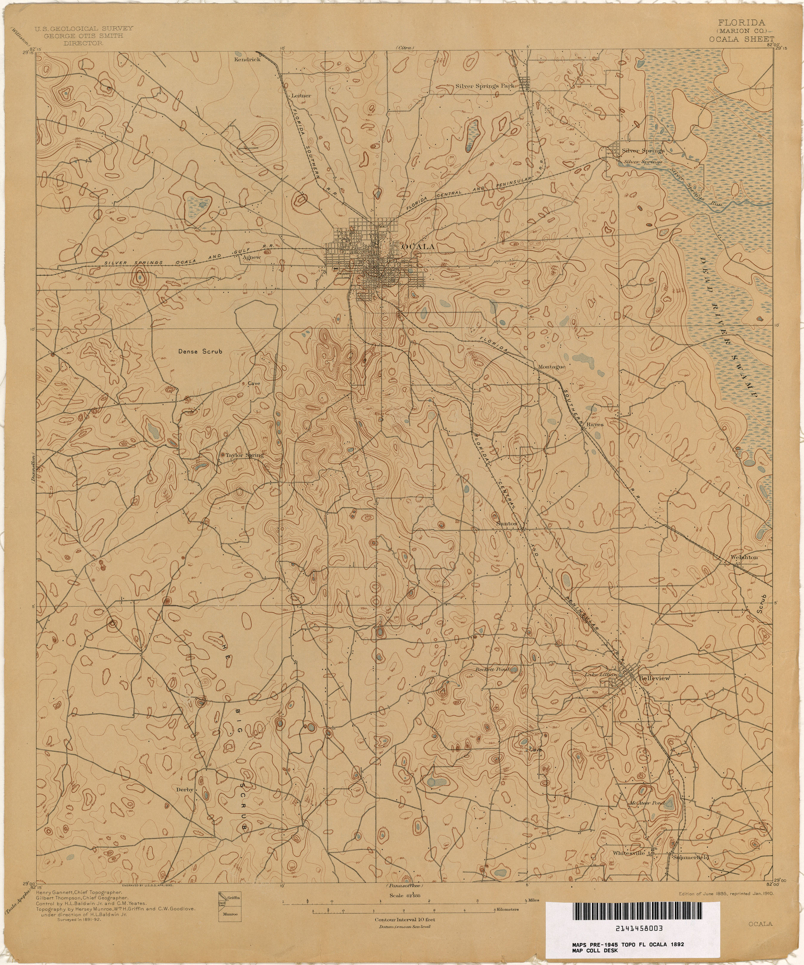 Lake Panasoffkee Florida Map.Florida Historical Topographic Maps Perry Castaneda Map Collection