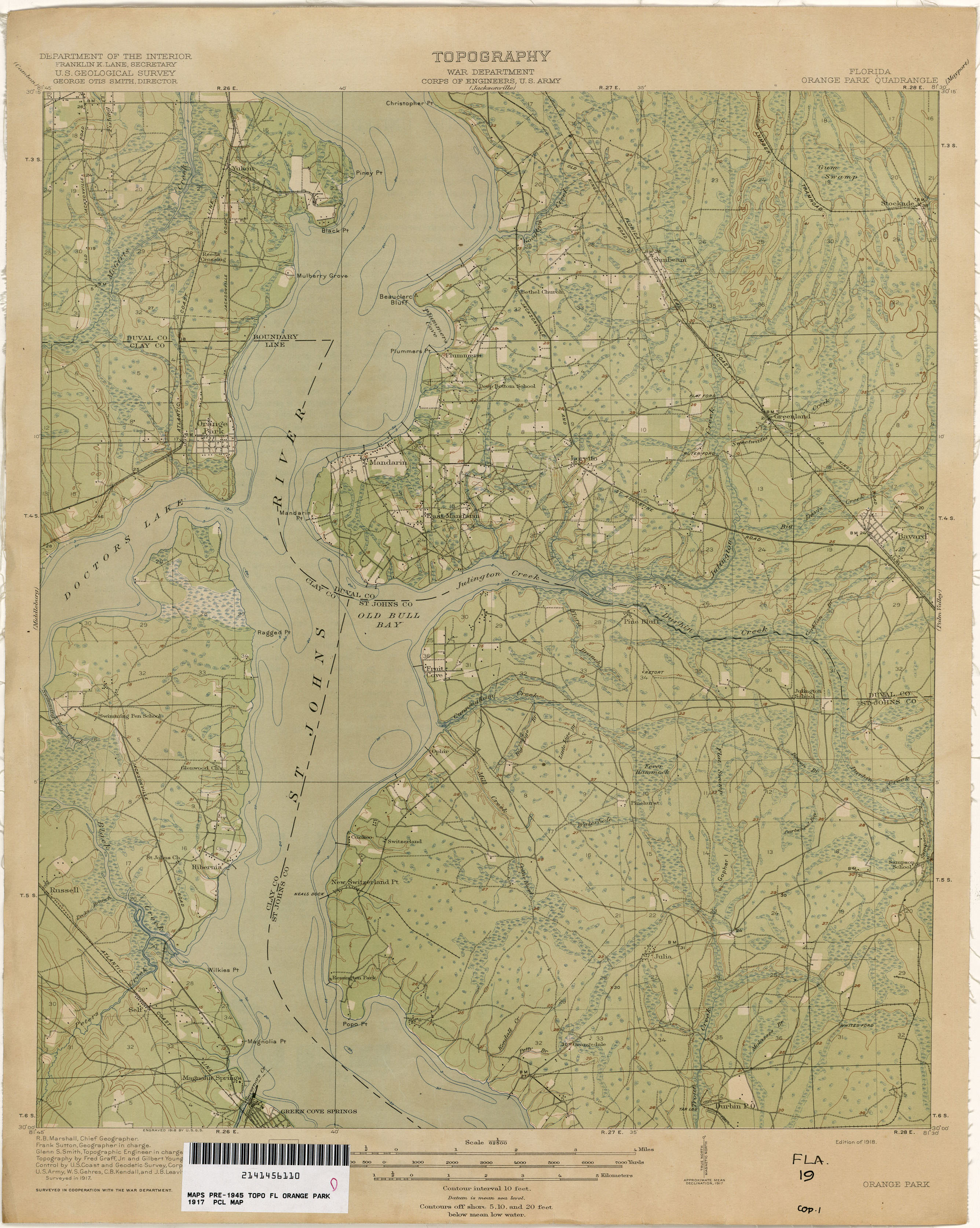 Map Of Orange County Florida.Florida Historical Topographic Maps Perry Castaneda Map Collection