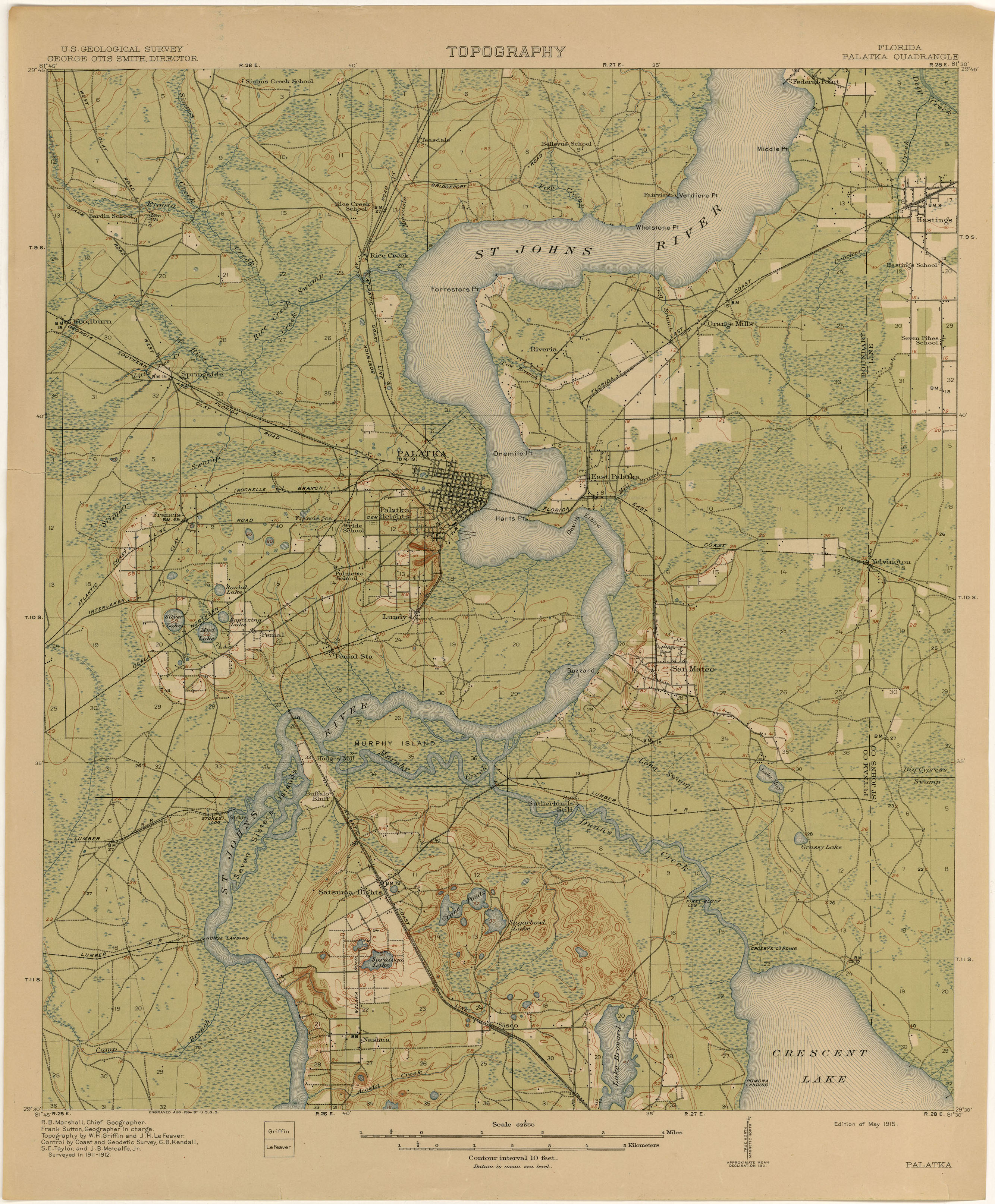Palatka Florida Map.Florida Historical Topographic Maps Perry Castaneda Map Collection