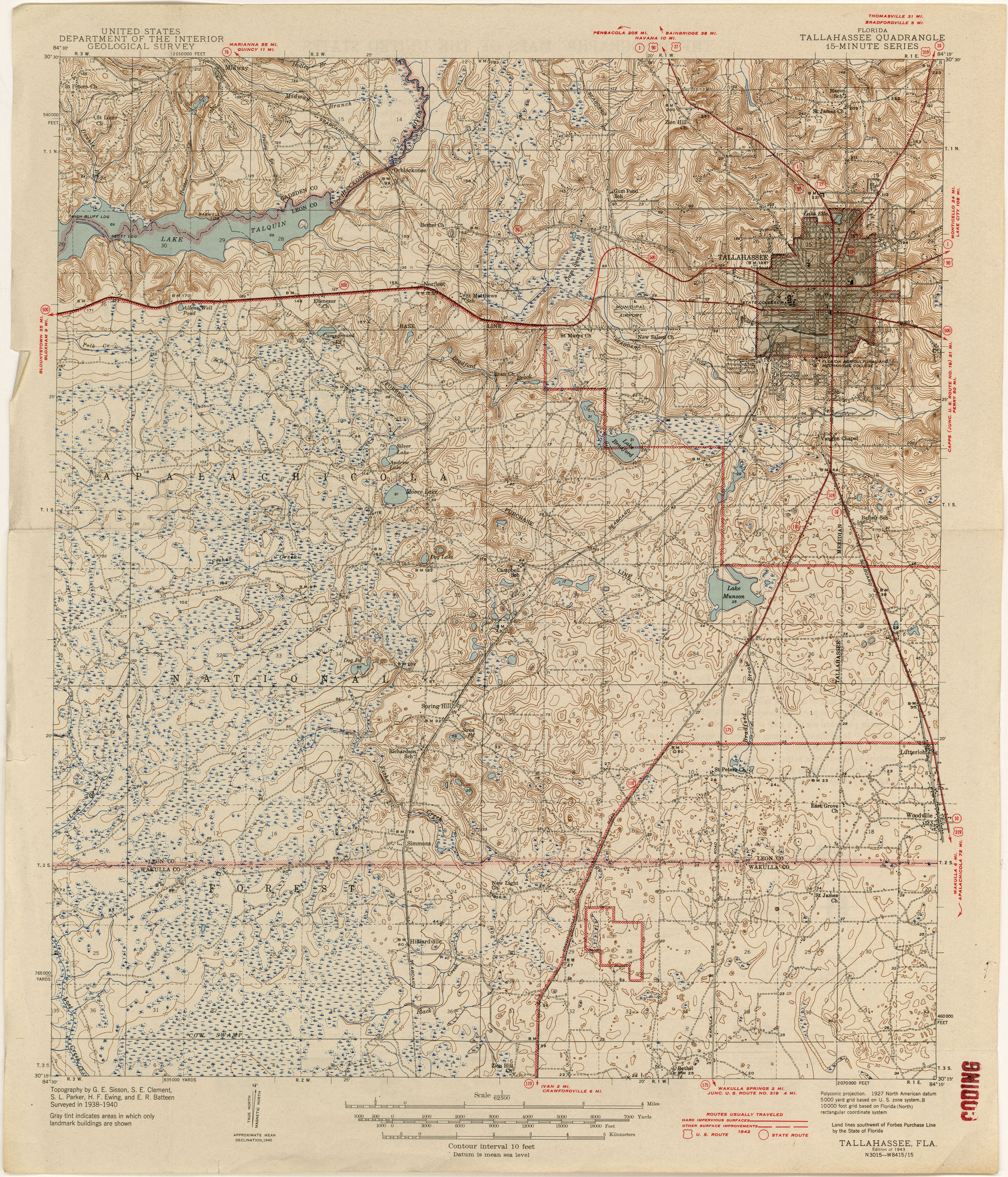 Florida Historical Topographic Maps PerryCastañeda Map - Map from 1940 us