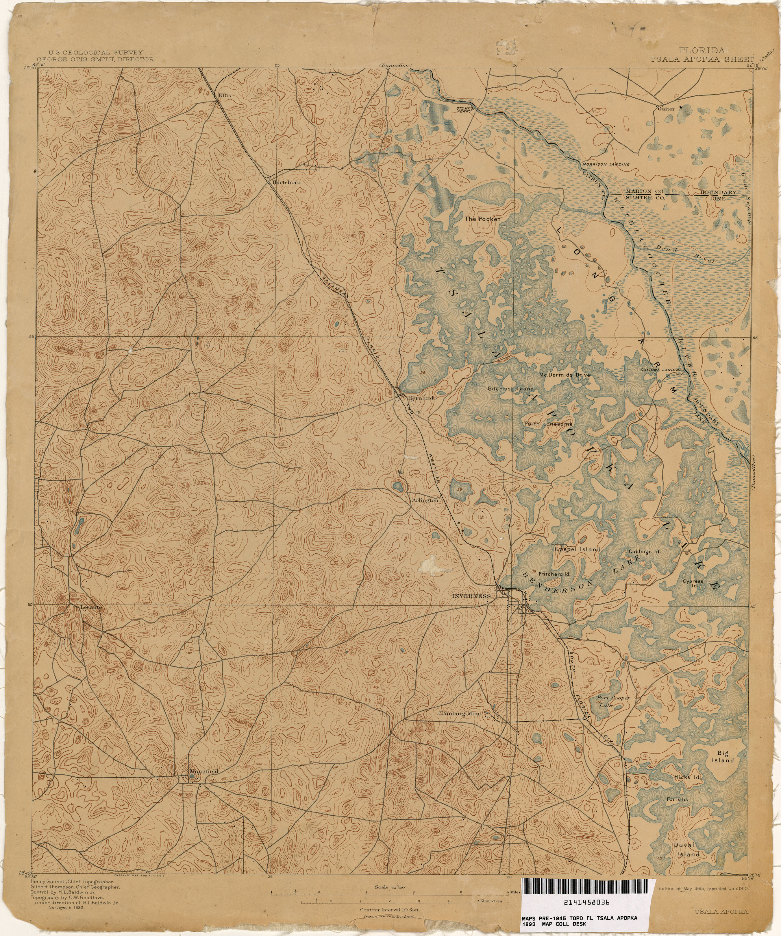 Topographical Map Of Florida.Florida Historical Topographic Maps Perry Castaneda Map Collection