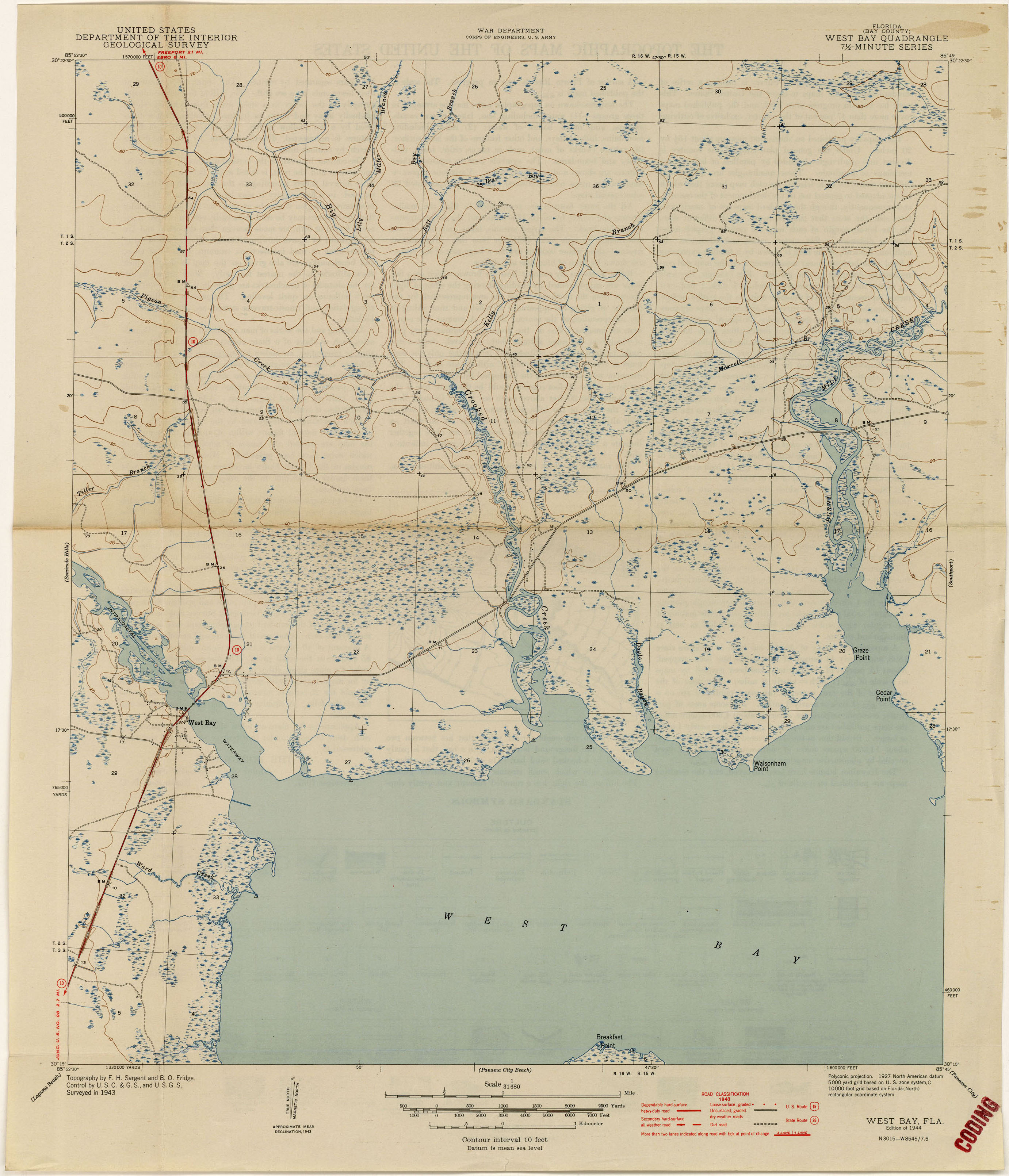 Florida Historical Topographic Maps PerryCastañeda Map - Map of western florida