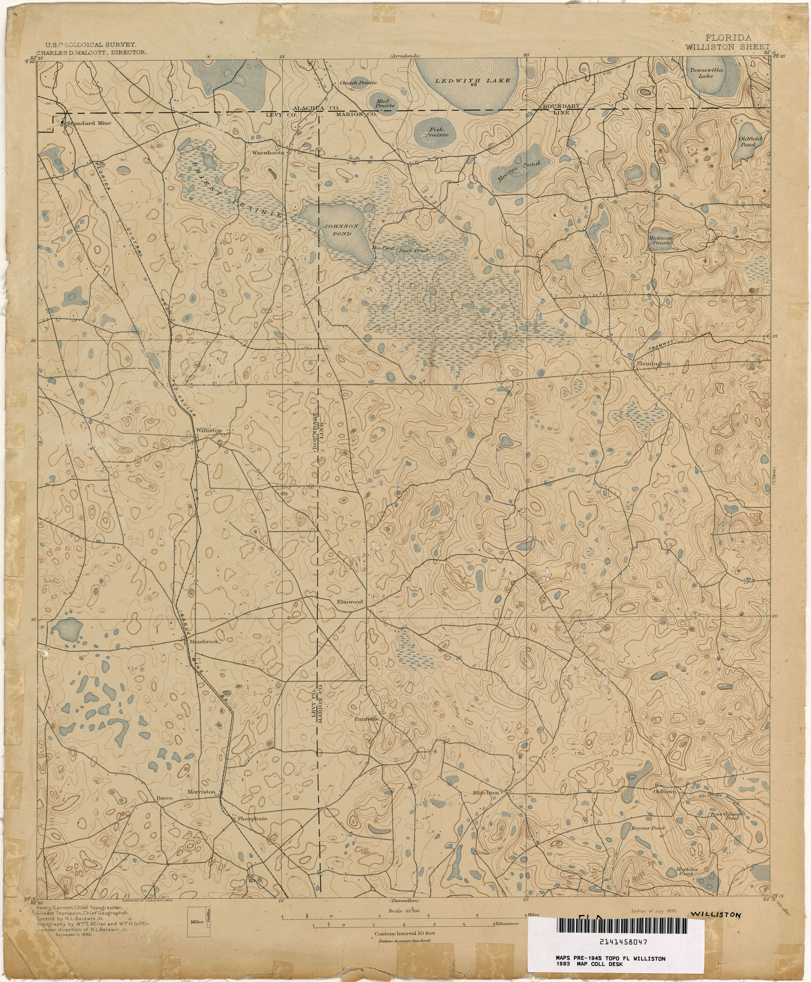 Florida Historical Topographic Maps PerryCastaeda Map